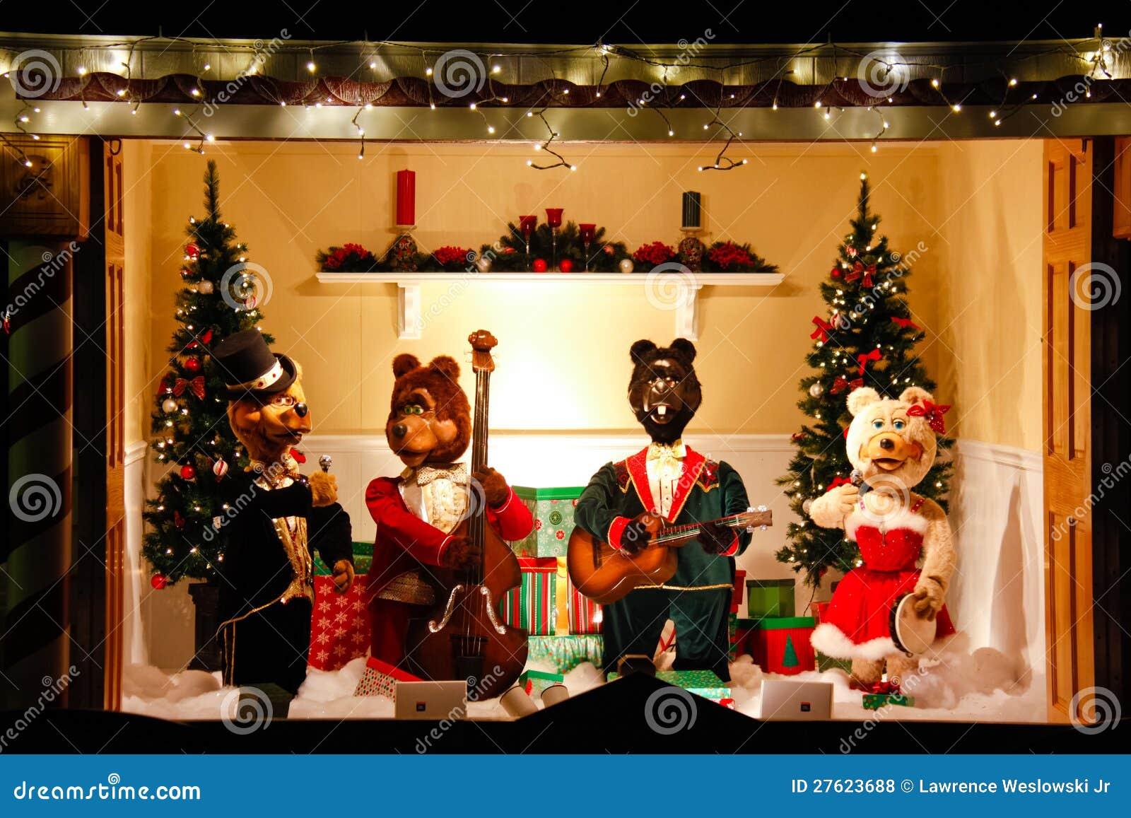Christmas Singing Bear Display Royalty Free Stock Photos ... - photo#24