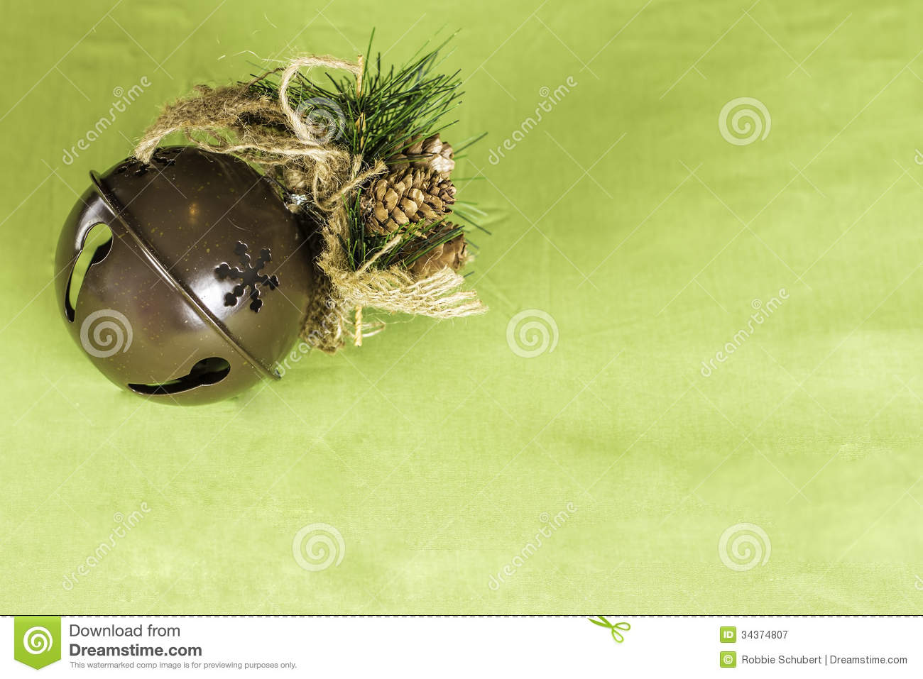 Christmas sleigh bell background stock image