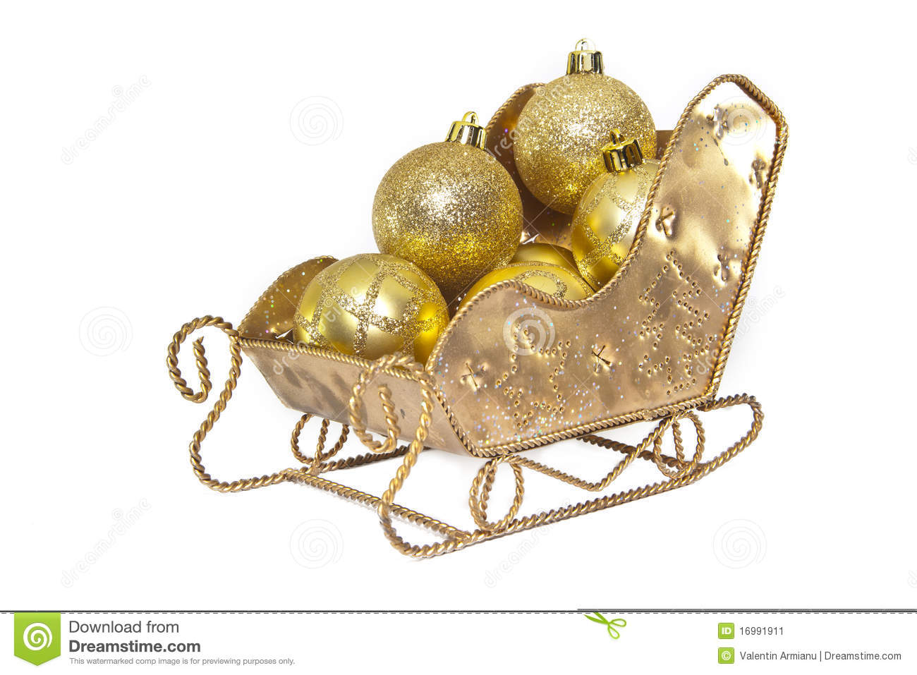 download christmas sleigh decorations stock image image of beautiful sledge 16991911