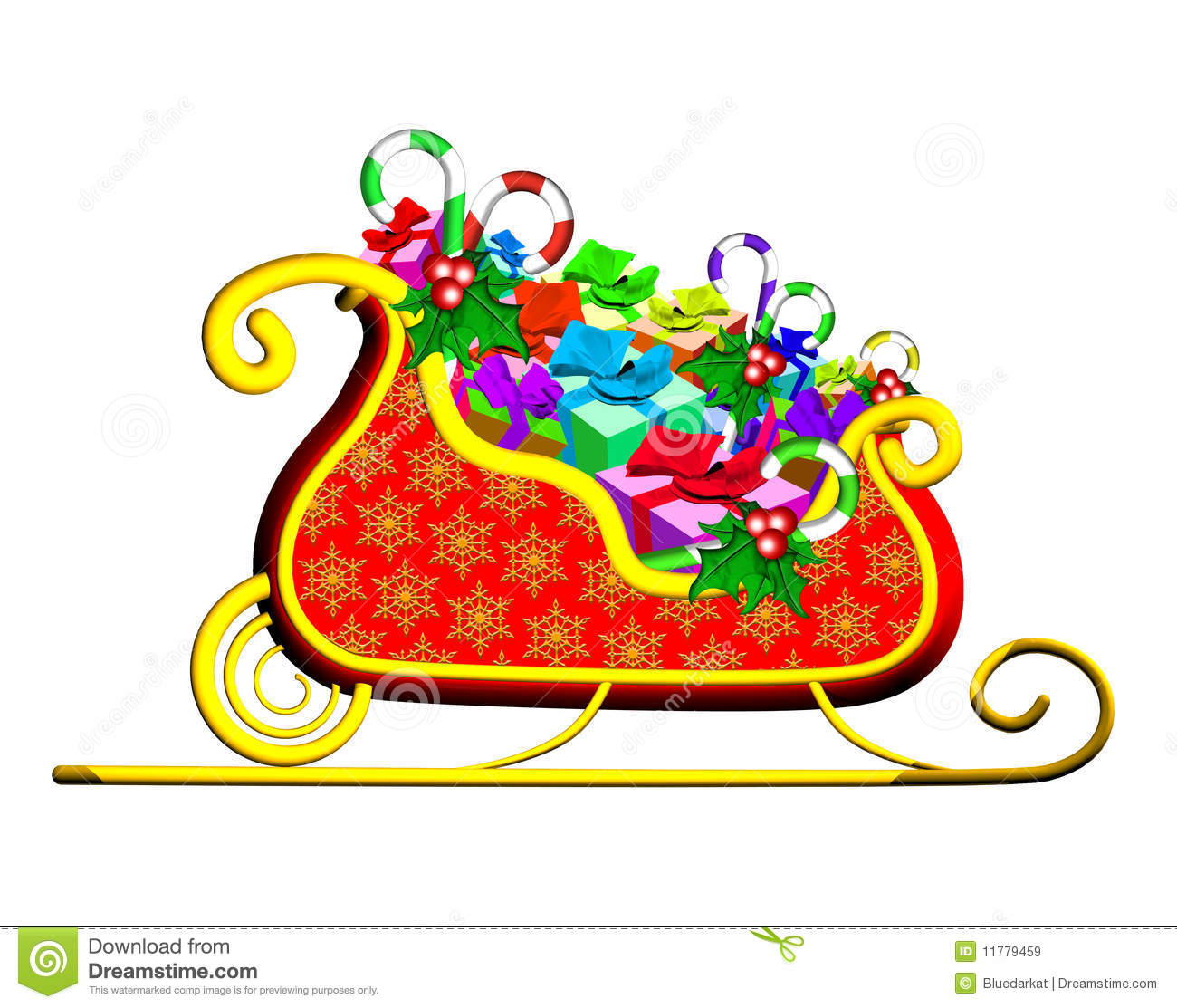 Christmas Sleigh With Presents Royalty Free Stock Images - Image ...