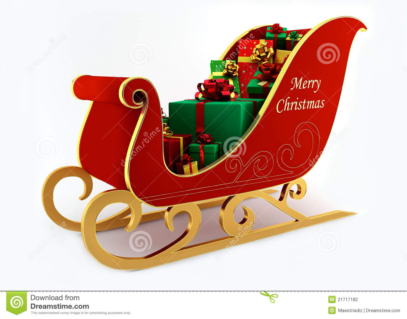 Christmas Sleigh With Presents Stock Photography - Image: 21717182