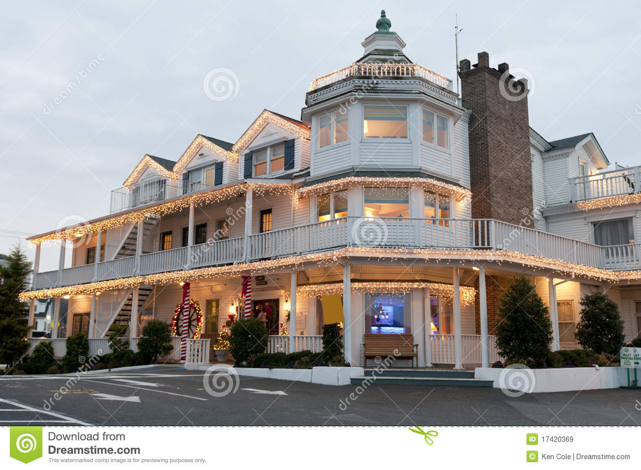 Christmas small hotel royalty free stock images image for Little hotels