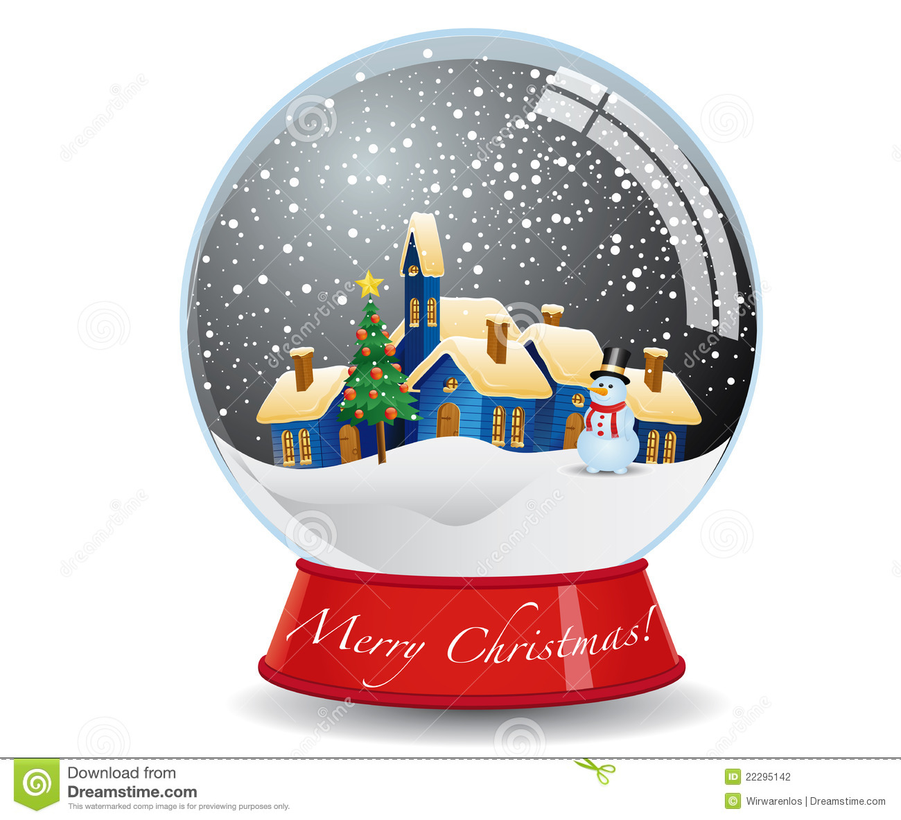 Christmas Snow Globe Stock Vector Illustration Of Holiday