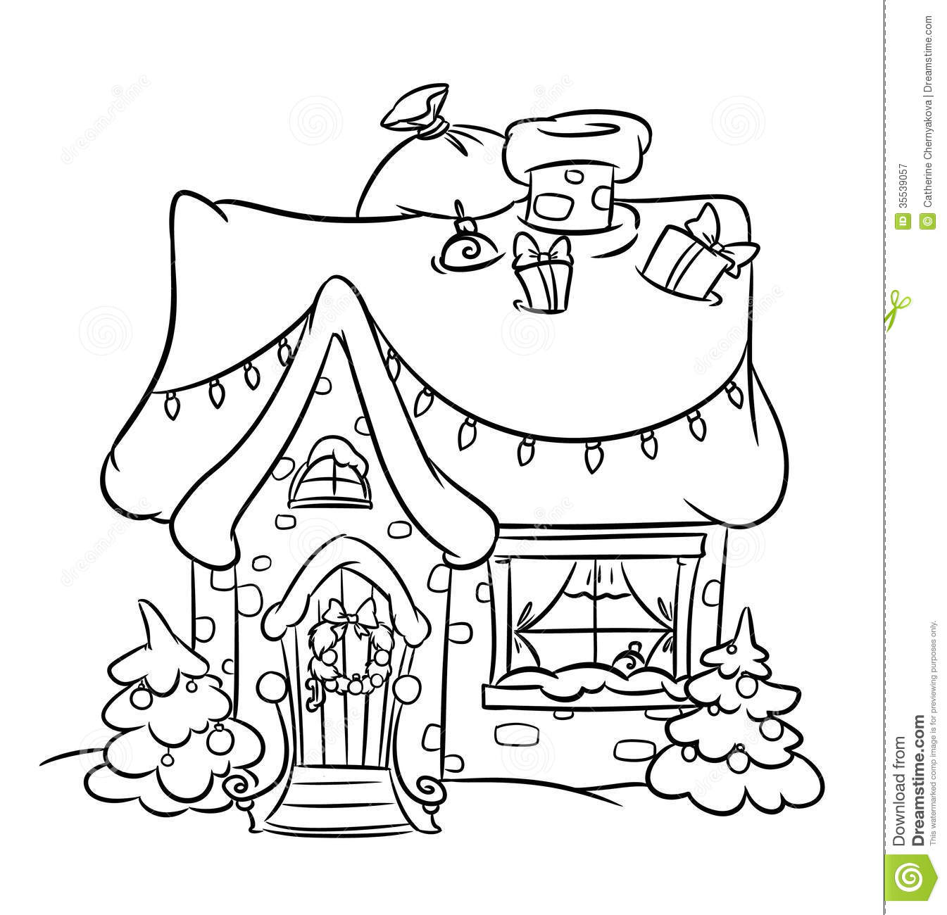 Christmas Snow House Stock Illustration Image Of