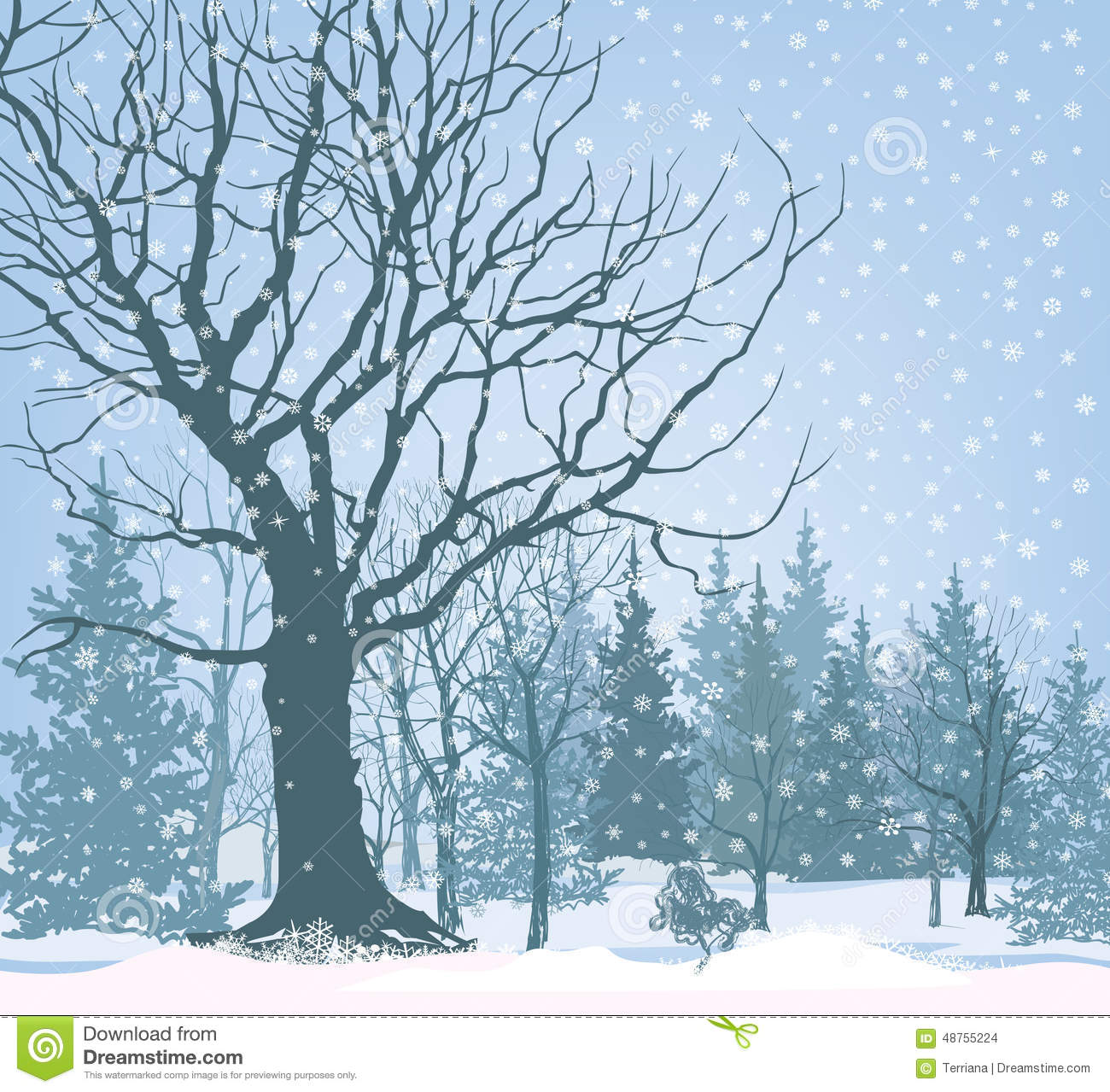 Christmas snow landscape wallpaper snowy forest