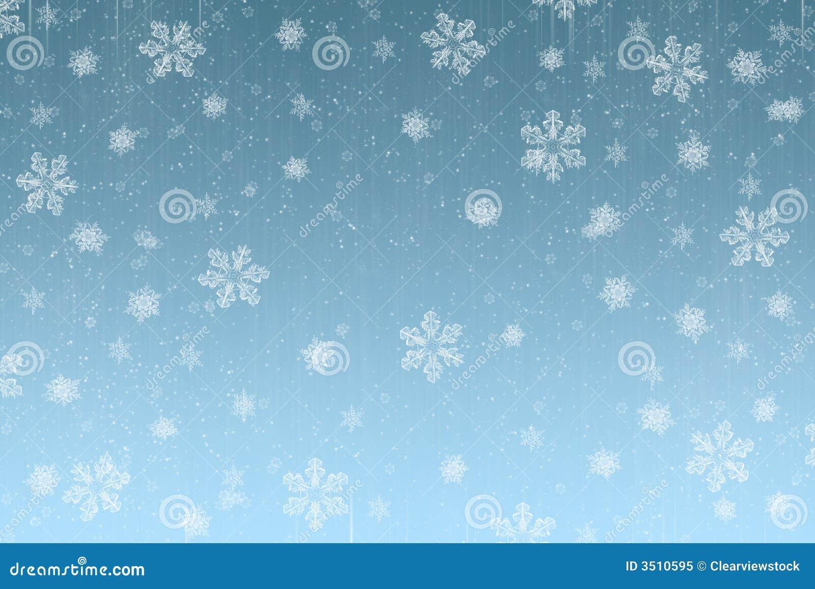 Snowing Christmas Scene.Christmas Snow Scene Card Stock Illustration Illustration