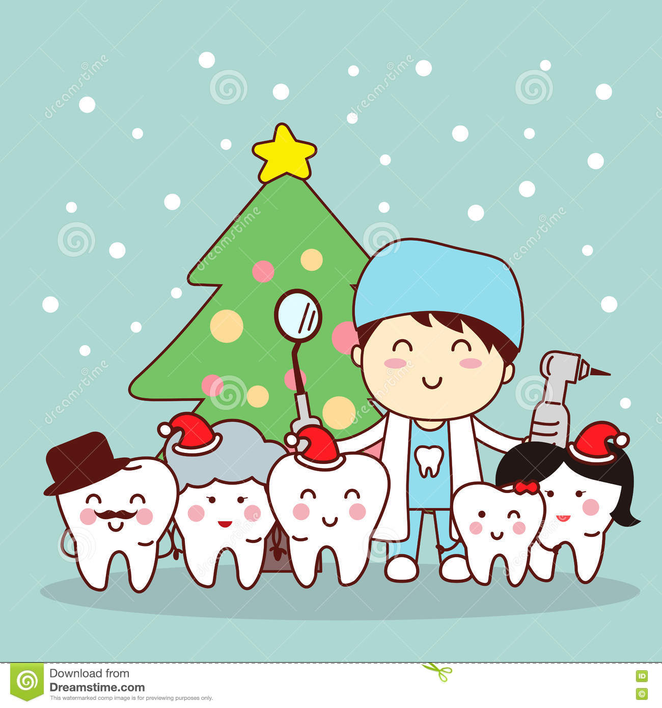 Christmas And Snow With Tooth Stock Vector - Illustration of claus ...