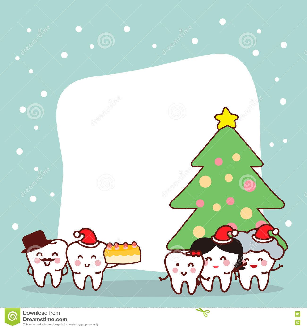 Christmas And Snow With Tooth Stock Vector - Illustration of ...