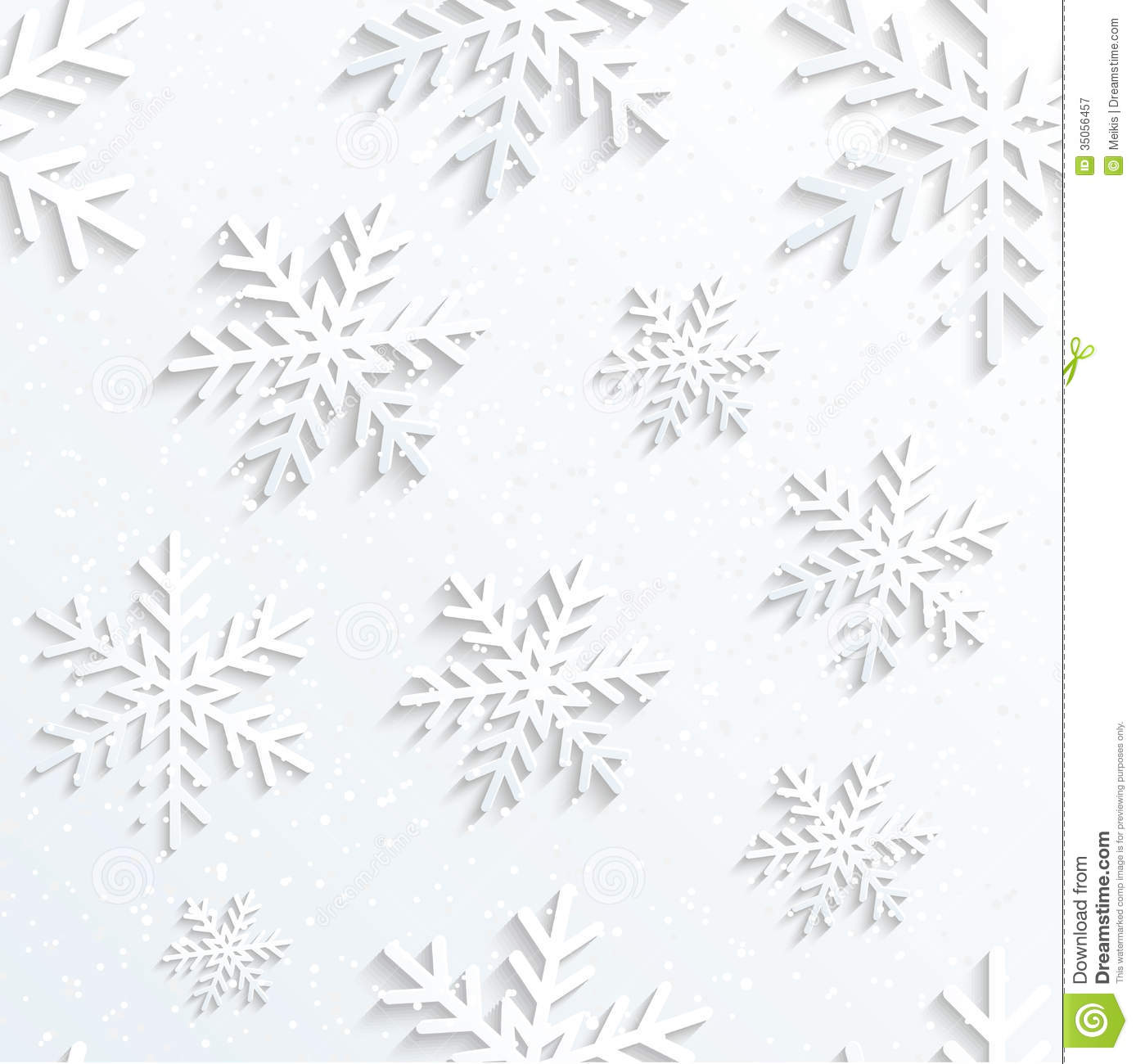 Christmas Snowflake Background Stock Vector