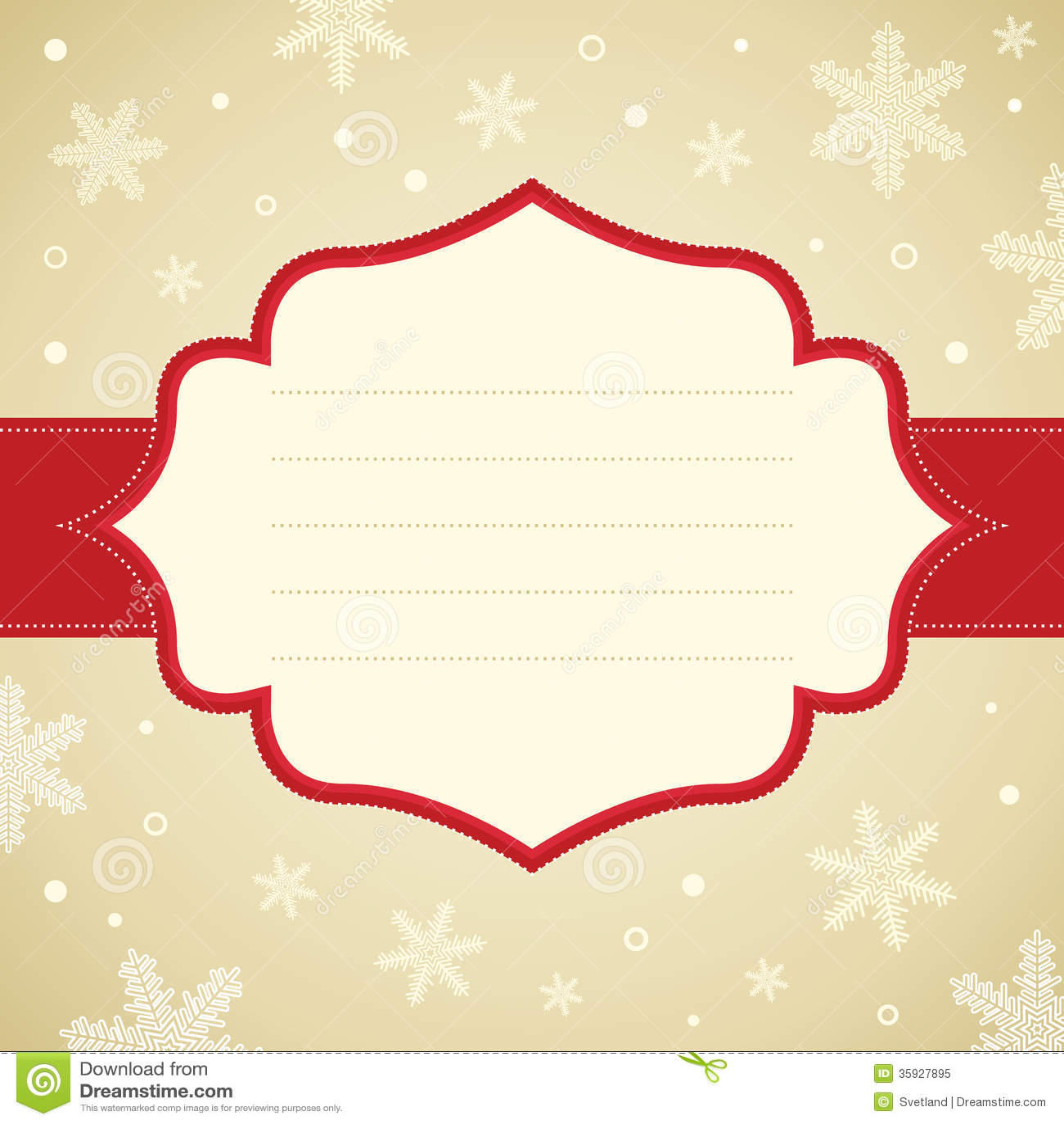 Christmas Snowflake Frame Royalty Free Stock Photo