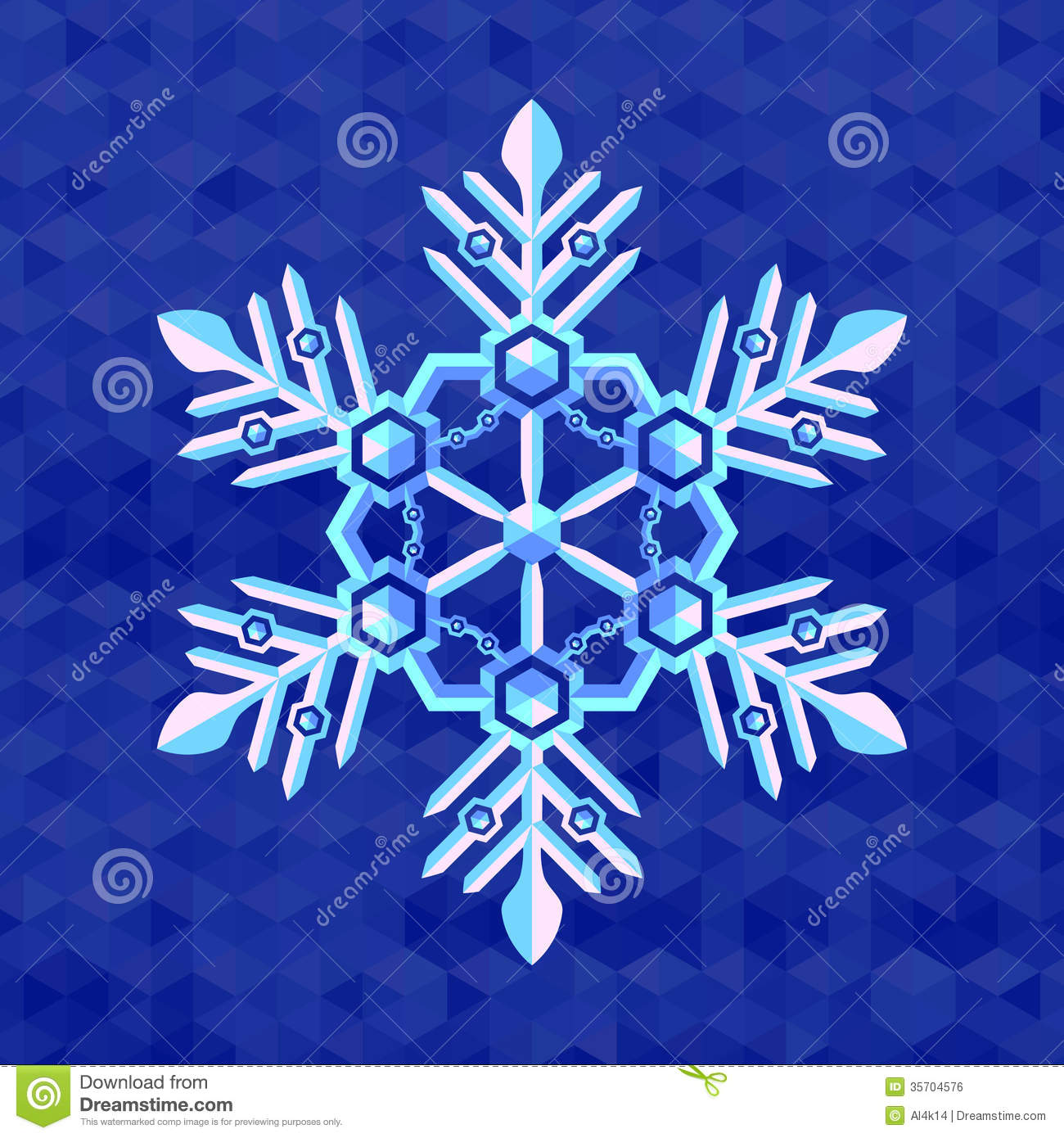 Template Greeting Card Royalty Free Stock Image: Christmas Snowflake Greeting Card Template Royalty Free