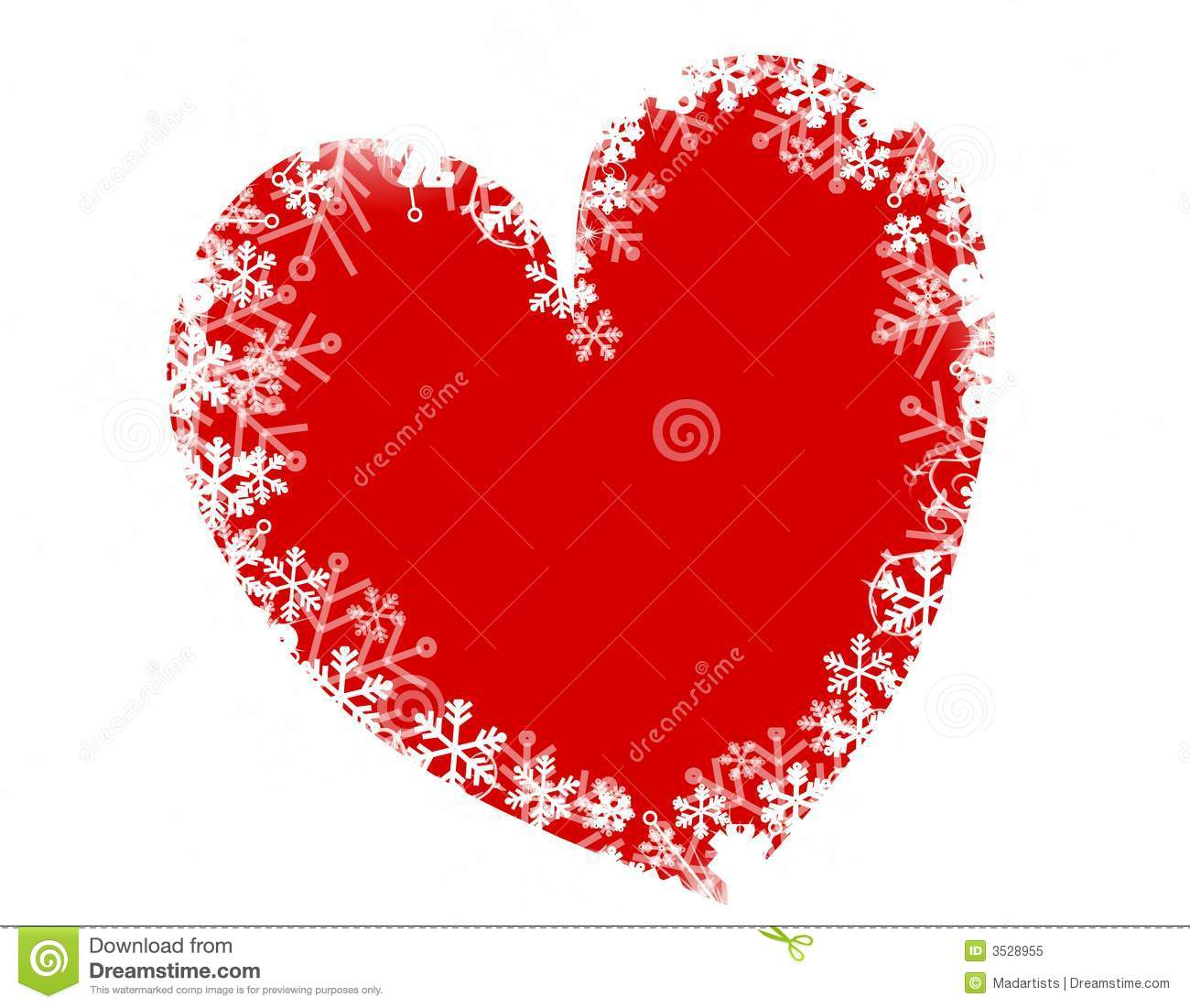 Christmas snowflake heart love royalty free stock photo