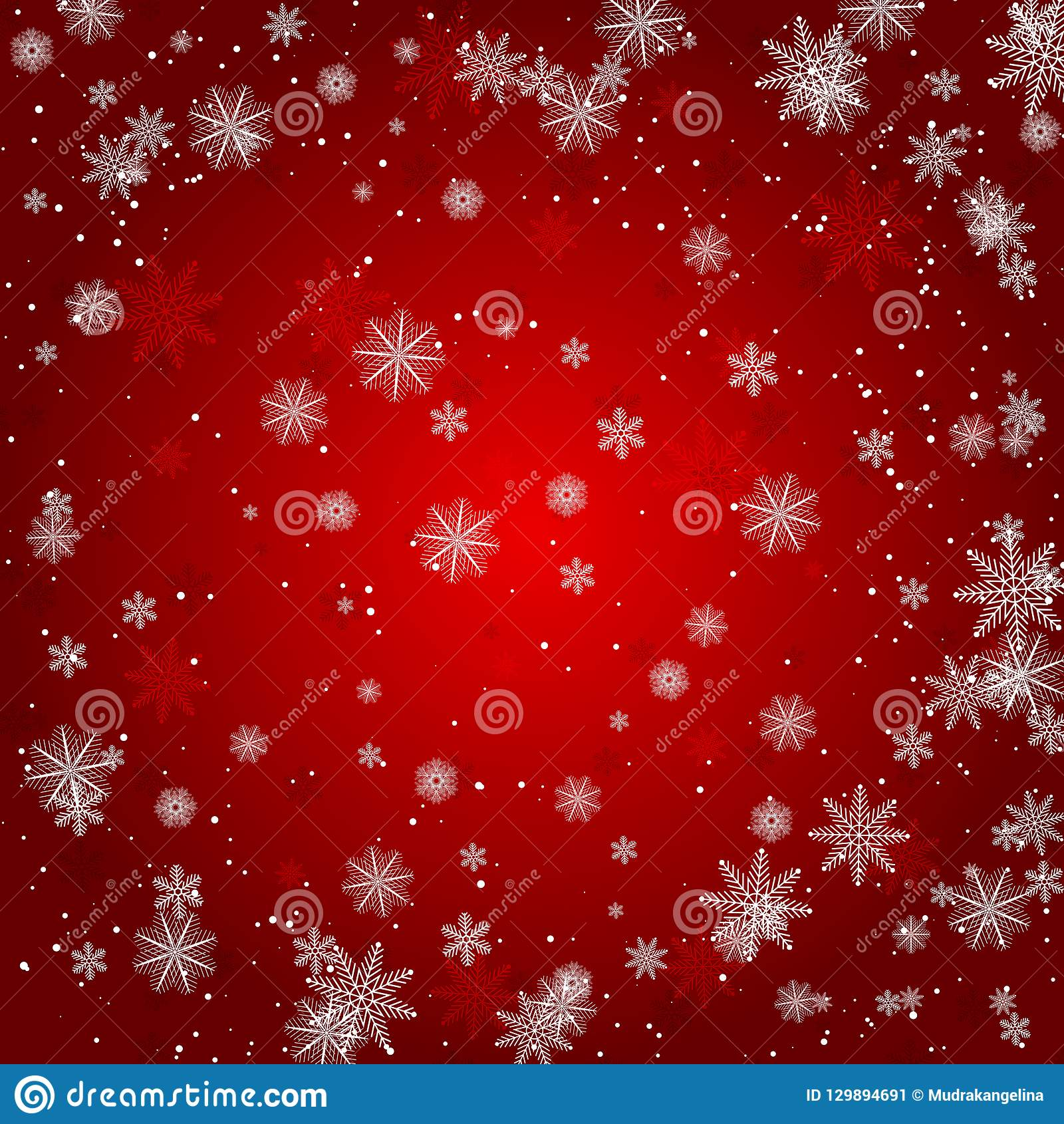 Christmas snowflake with night star light and snow fall abstract bakcground vector illustration eps10