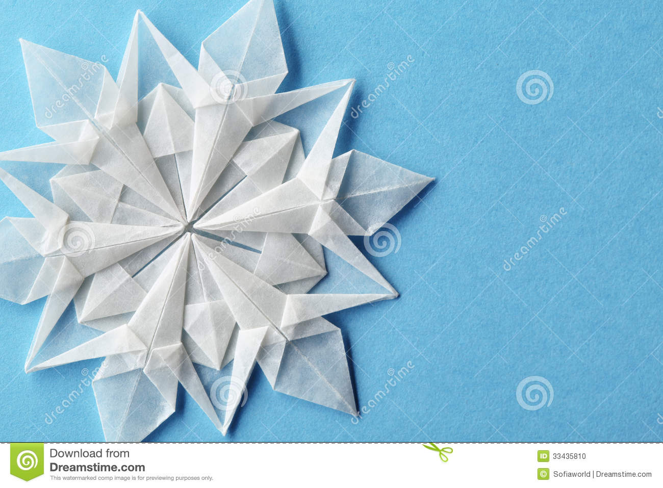 Christmas Snowflake Paper 3d Stock Photo - Image: 33435810