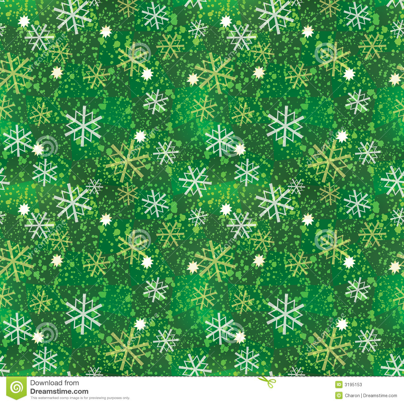 Christmas Snowflake Pattern Seamless Stock Photos Image
