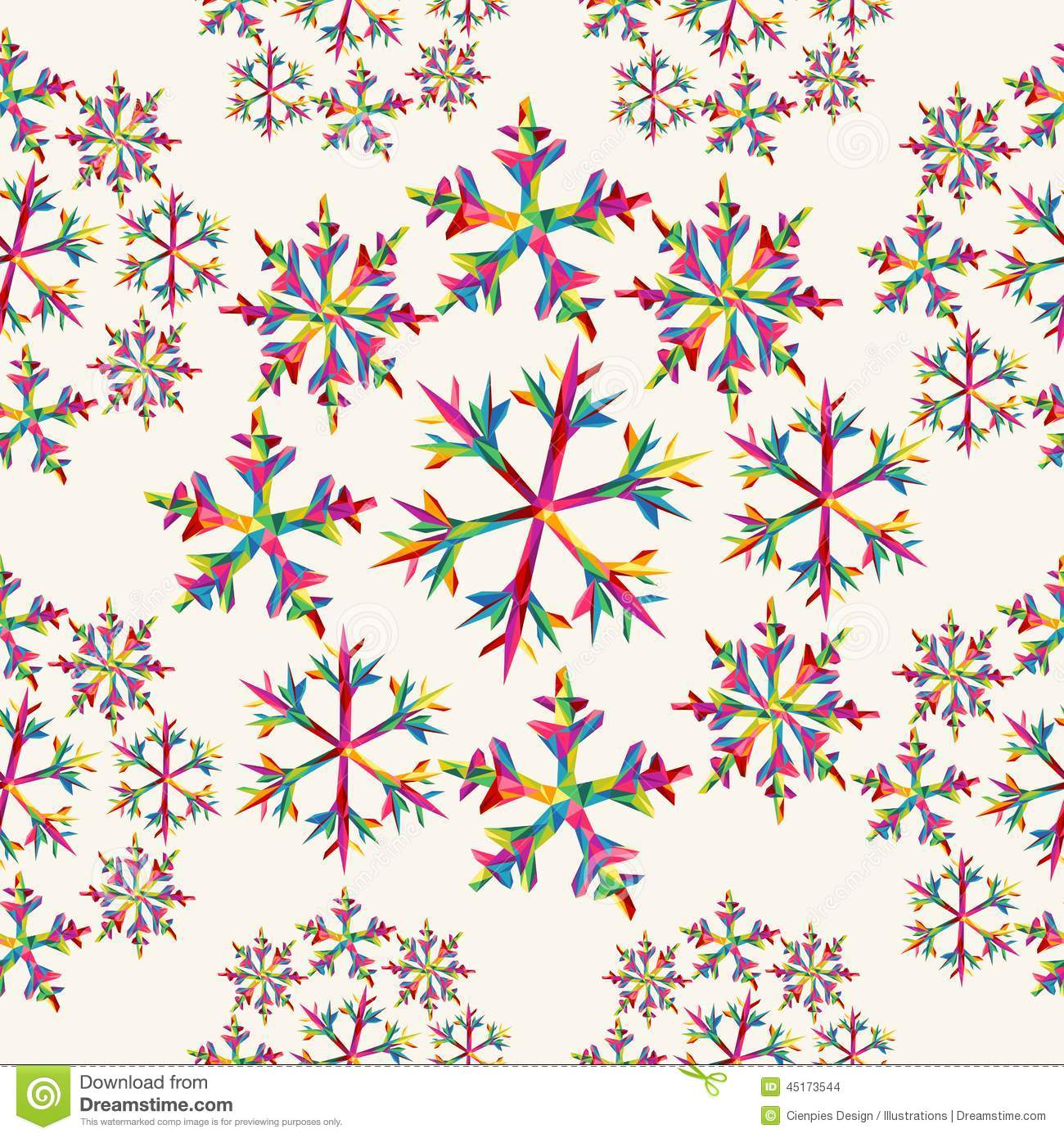 christmas snowflakes seamless pattern stock vector illustration of