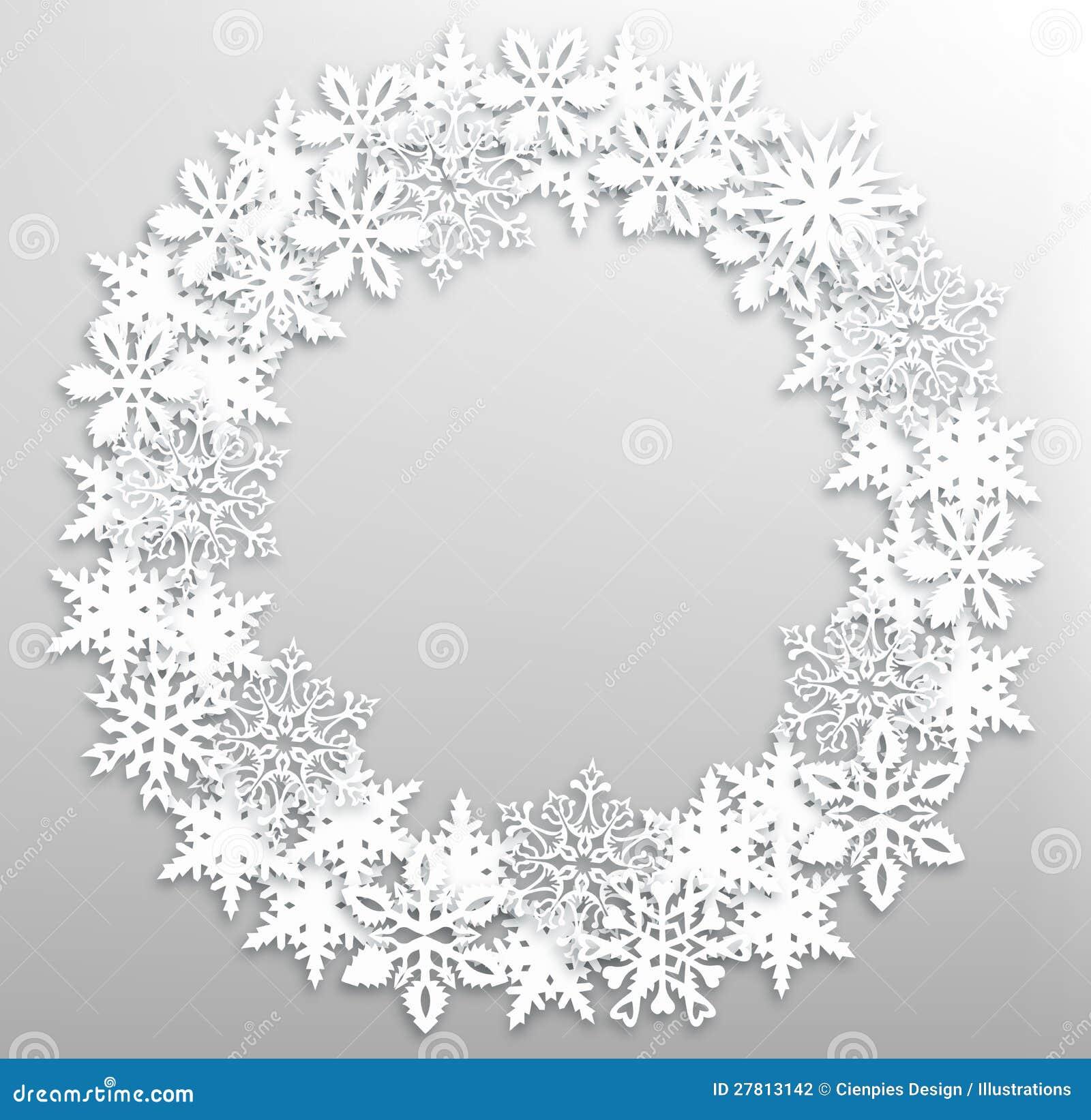 Christmas Snowflakes Wreath Stock Photography - Image ...
