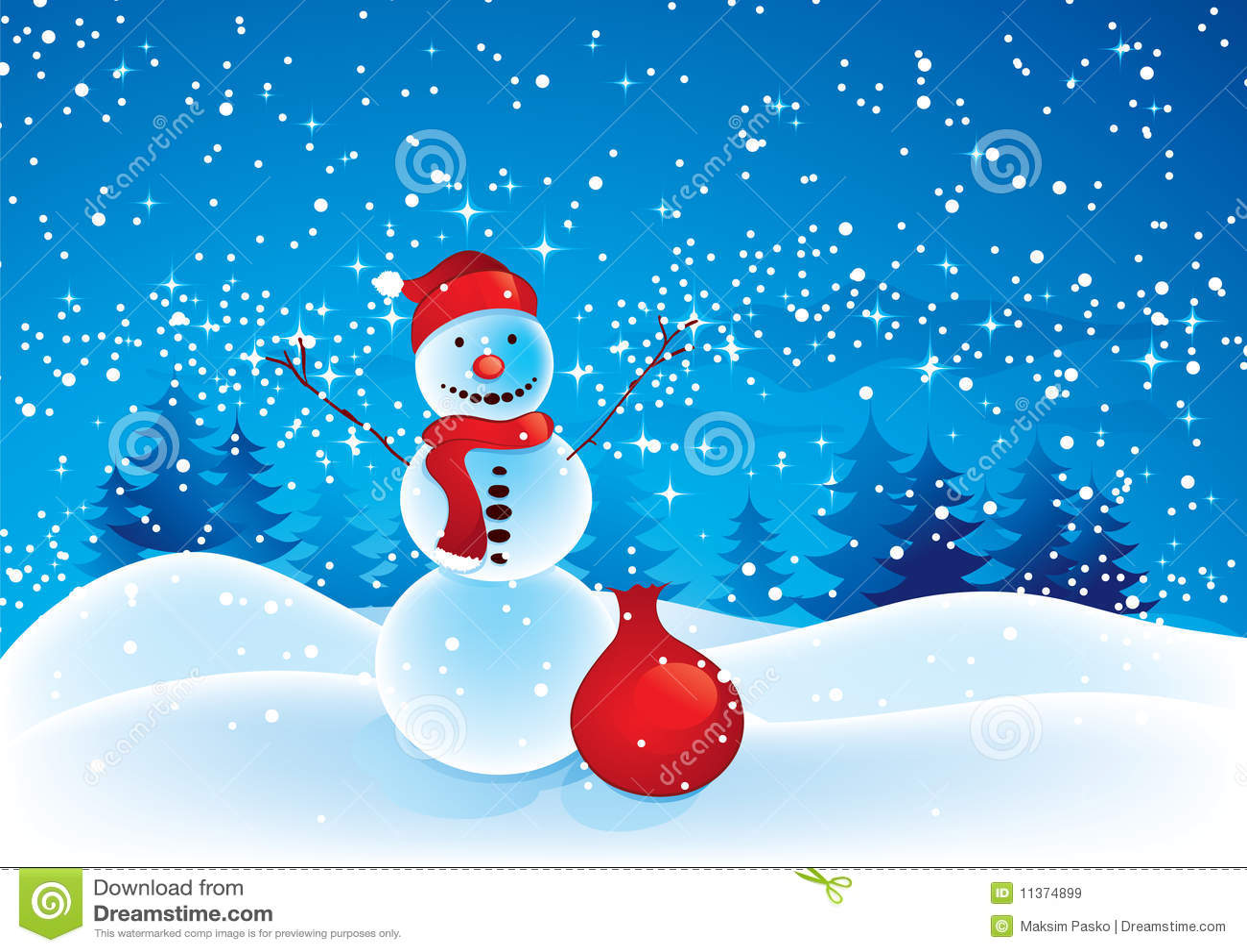 Outdoor Christmas Snowman