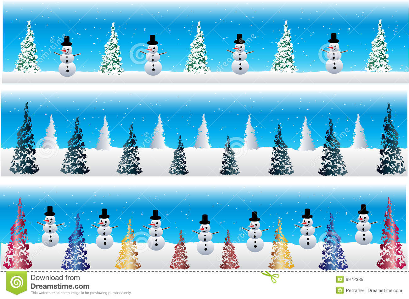 christmas snowman banners royalty free stock photo