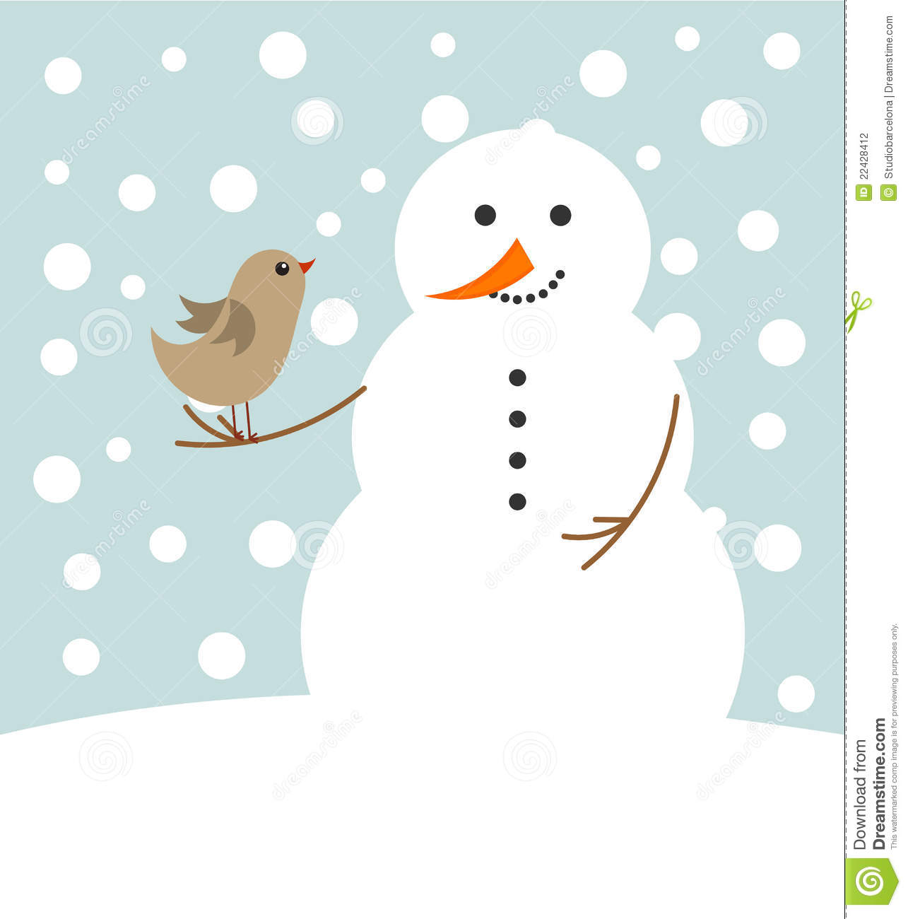 Stock Photography Christmas Snowman Bird Image22428412 on Christmas Tree5