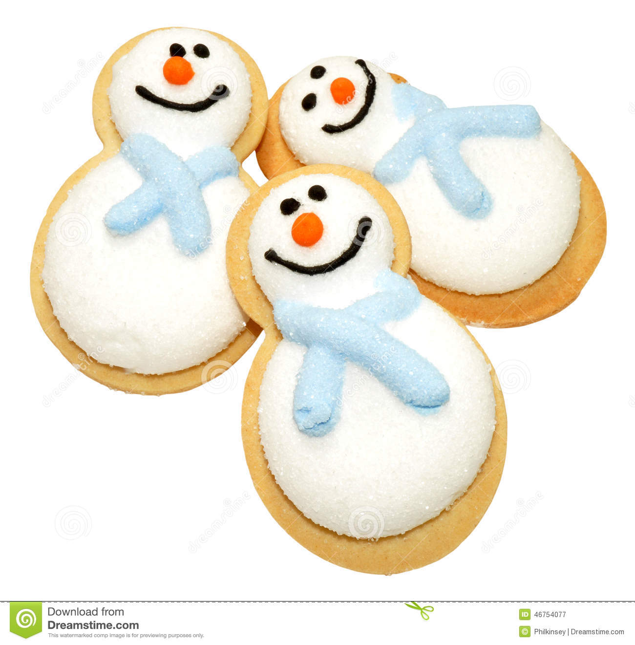 Christmas Snowman Biscuits Stock Image Image Of Snowmen 46754077
