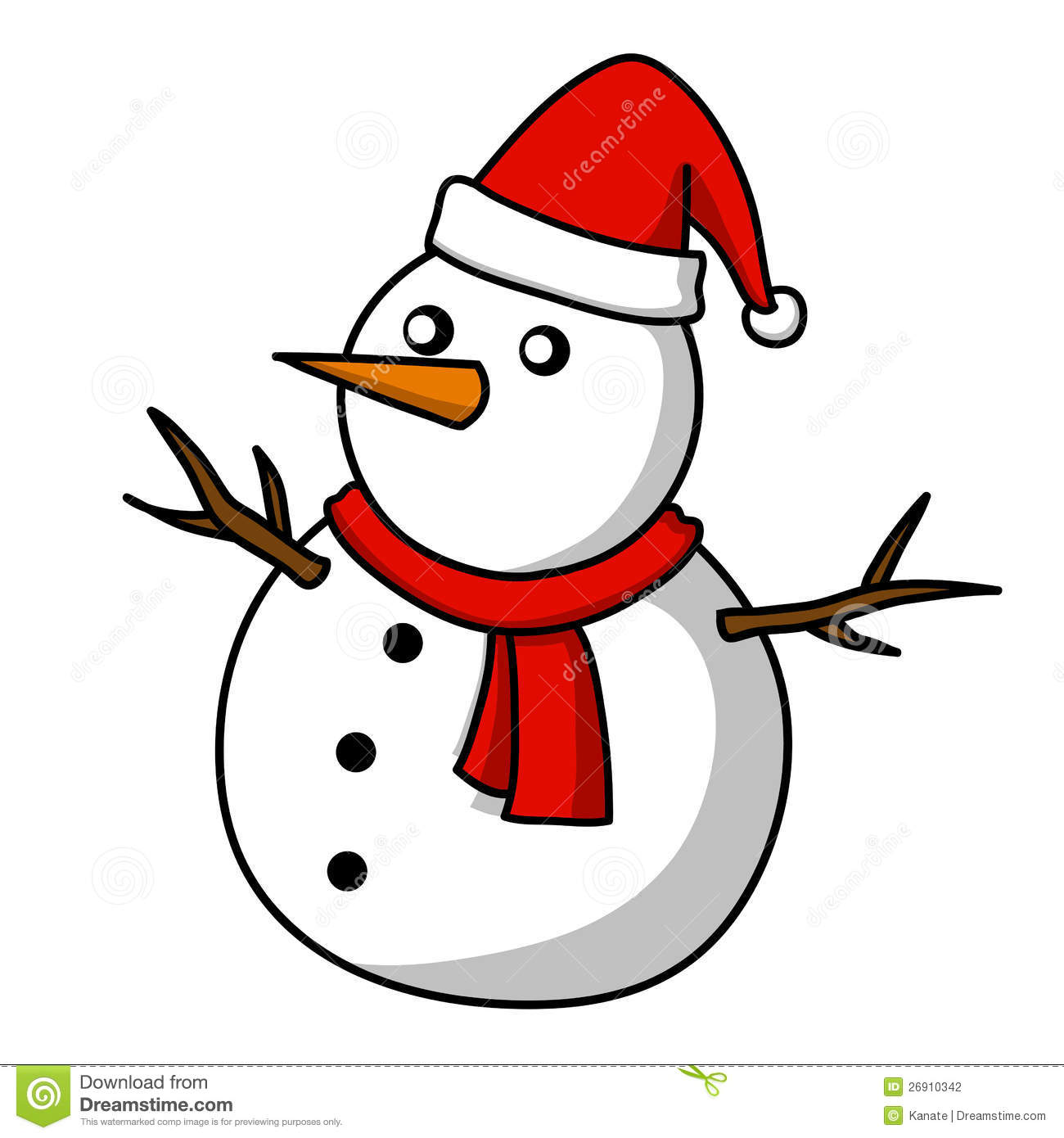 Christmas Snowman Cartoon Stock Photography Image 26910342