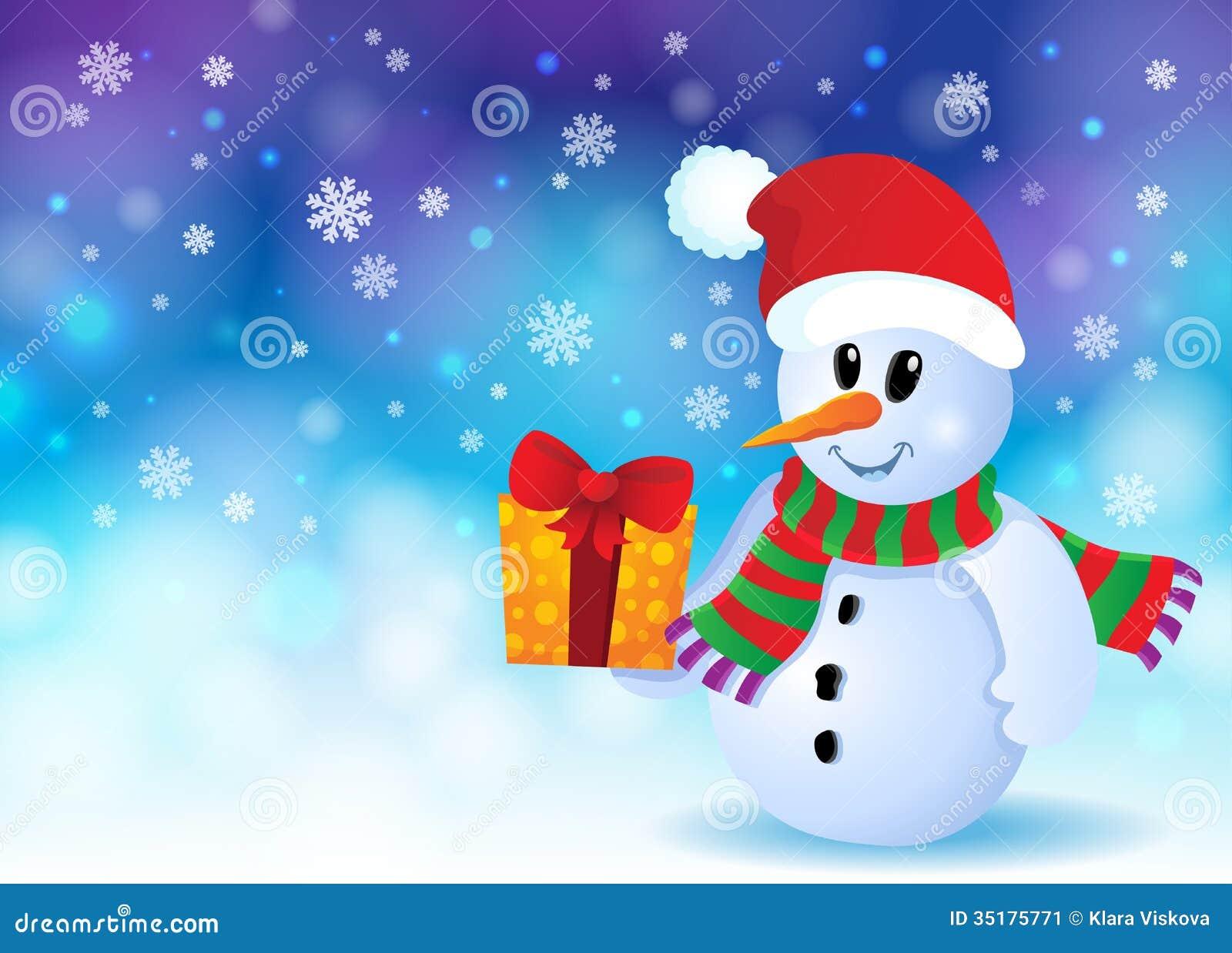 christmas snowman theme image 3 stock image image 35175771