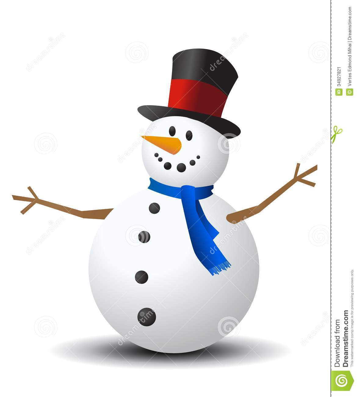 Christmas Snowman Stock Image - Image: 34927821: www.dreamstime.com/stock-image-christmas-snowman-white-background...