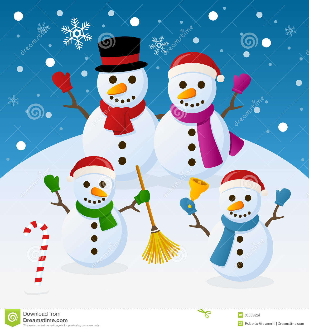 Image result for winter holidays family cartoon free image