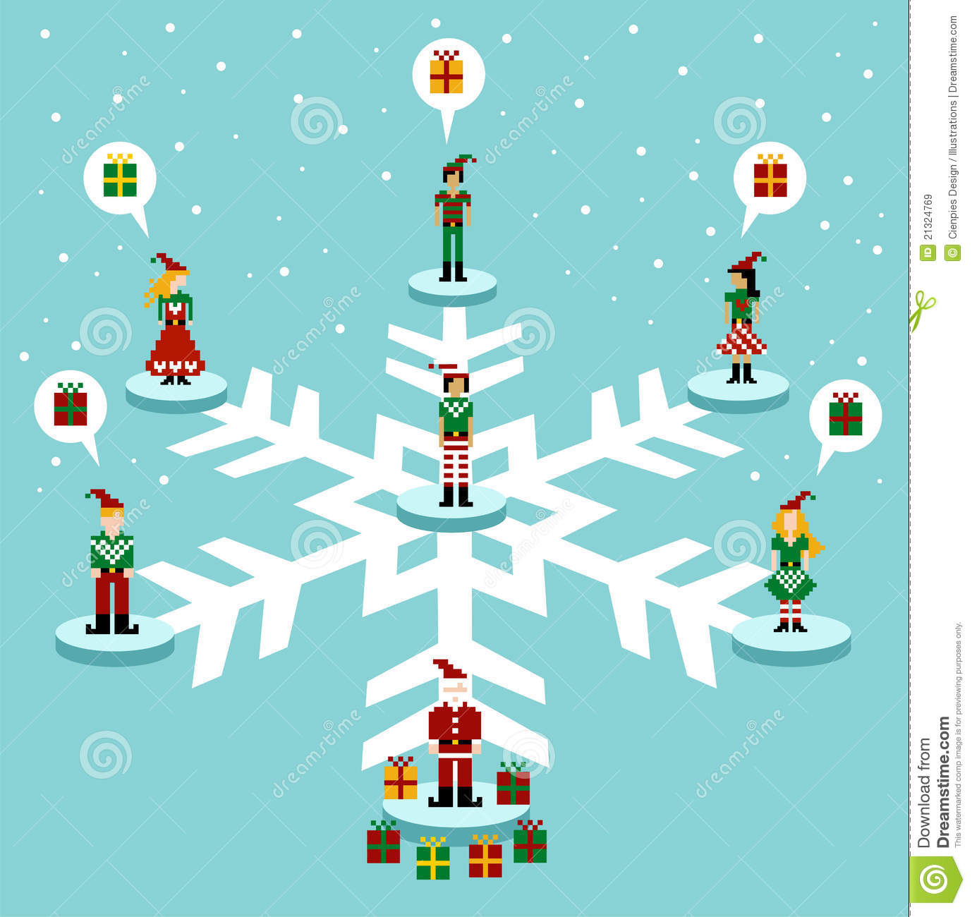 Christmas Social Media Network Royalty Free Stock Images