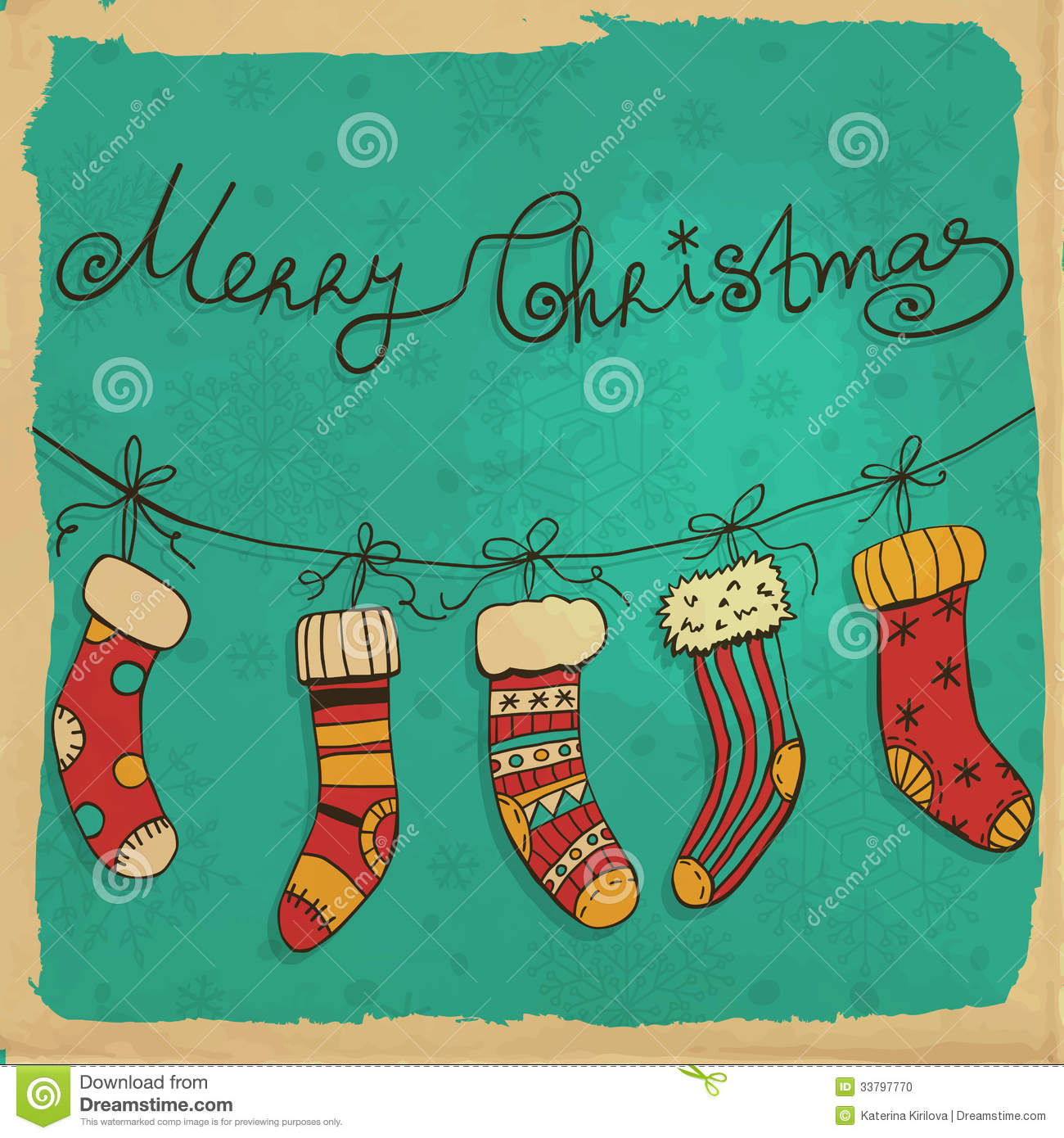 christmas socks stock vector  image of ornament  background
