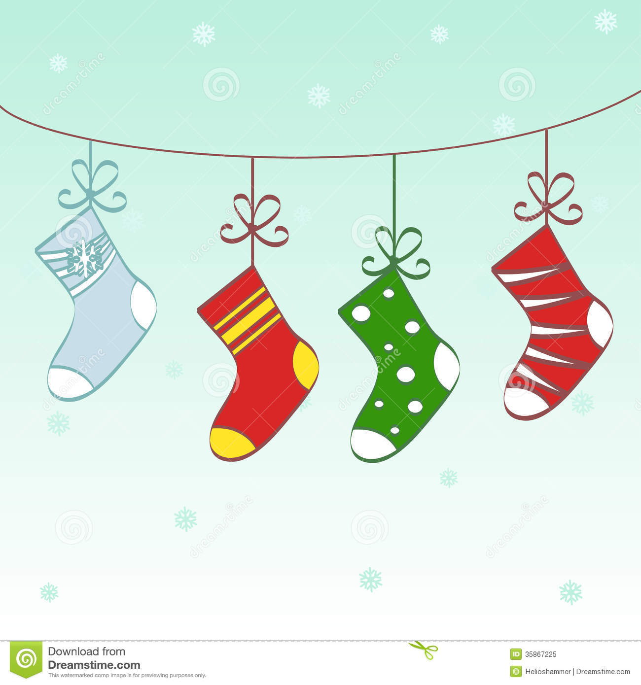 Christmas Stockings Cartoon.Christmas Socks Text Frame Stock Vector Illustration Of