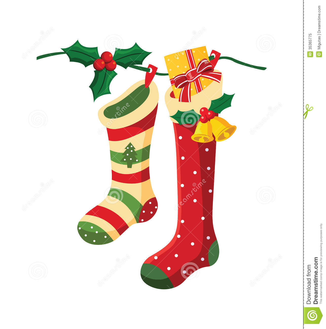 Christmas Socks. Royalty Free Stock Photo - Image: 35365775
