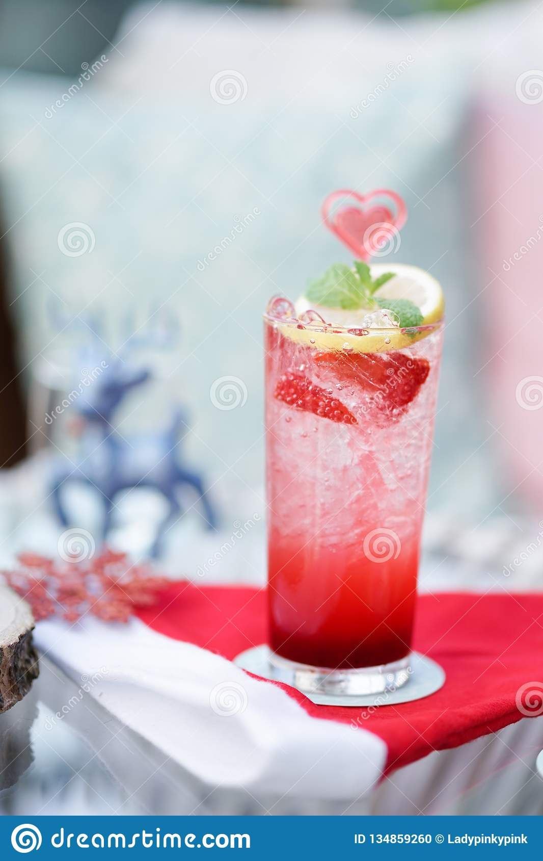 Christmas soda. Festive drink of a Christmas soda, seasonal drink served in December month only
