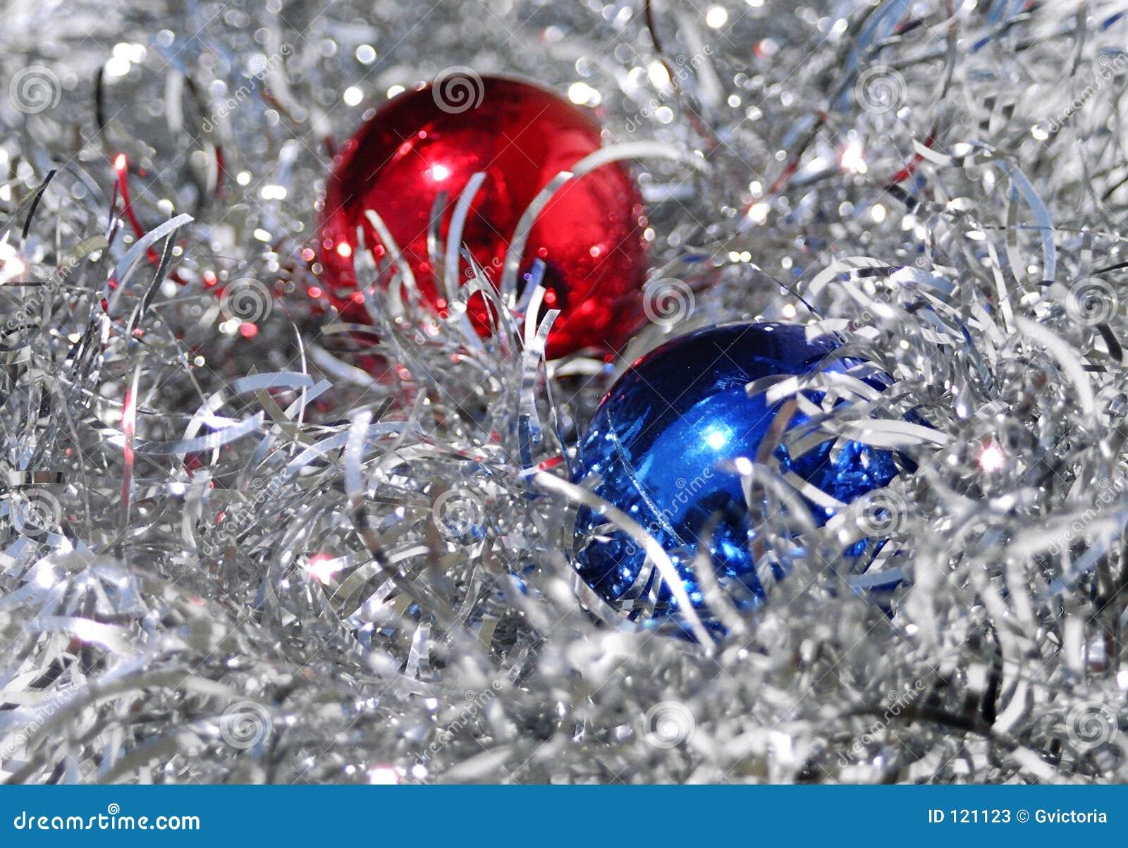 Christmas sparkle stock image of ball decorative