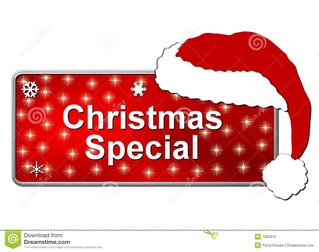 Christmas Special Button Stock Photo Image 7283970