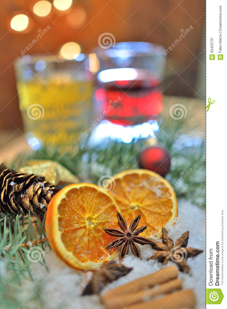 Christmas spices and drinks