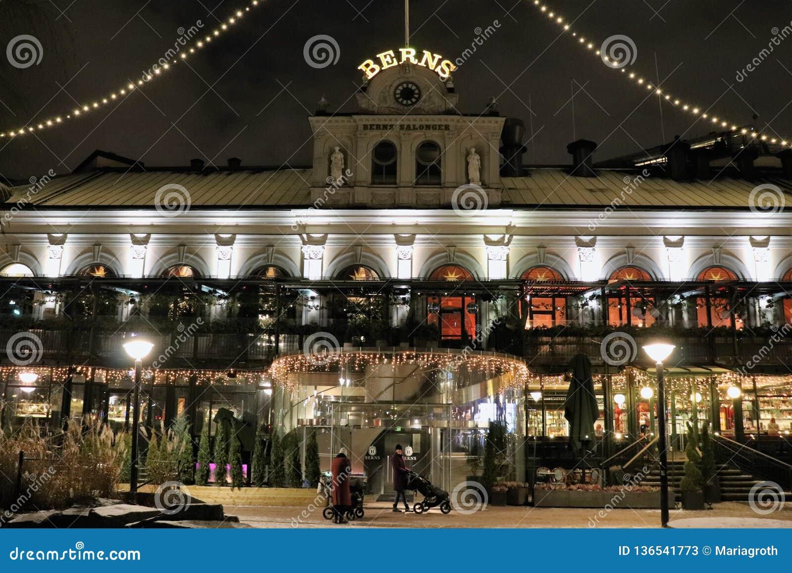 Christmas spirit at Bern`s salons in Stockholm