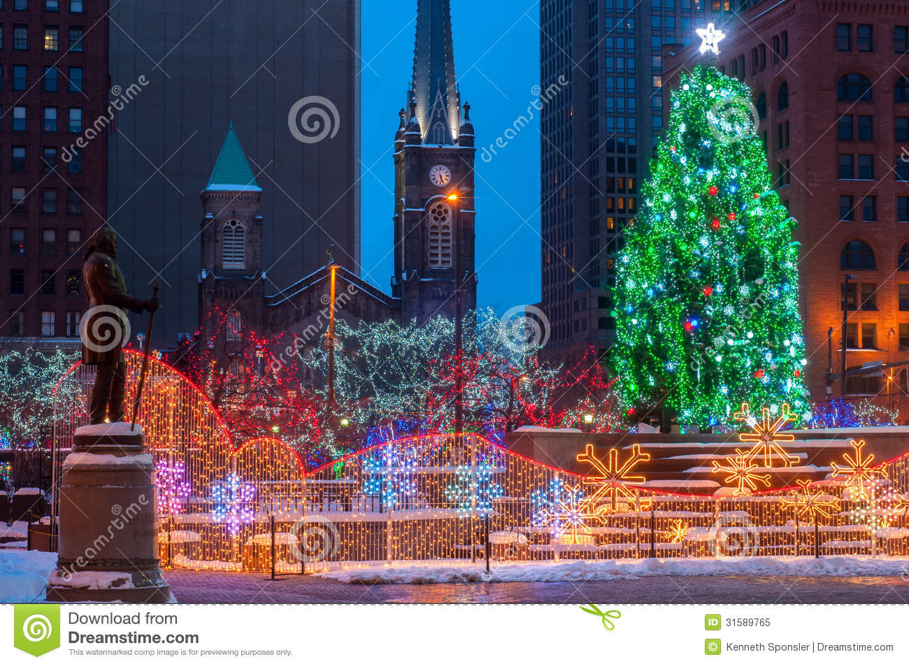 Christmas On The Square Royalty Free Stock Photo Image