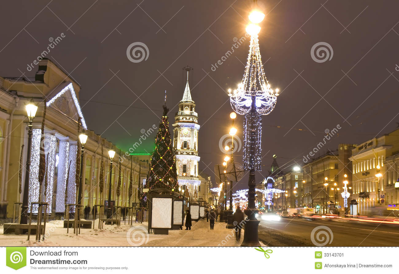 Christmas In St Petersburg Stock Image Image 33143701