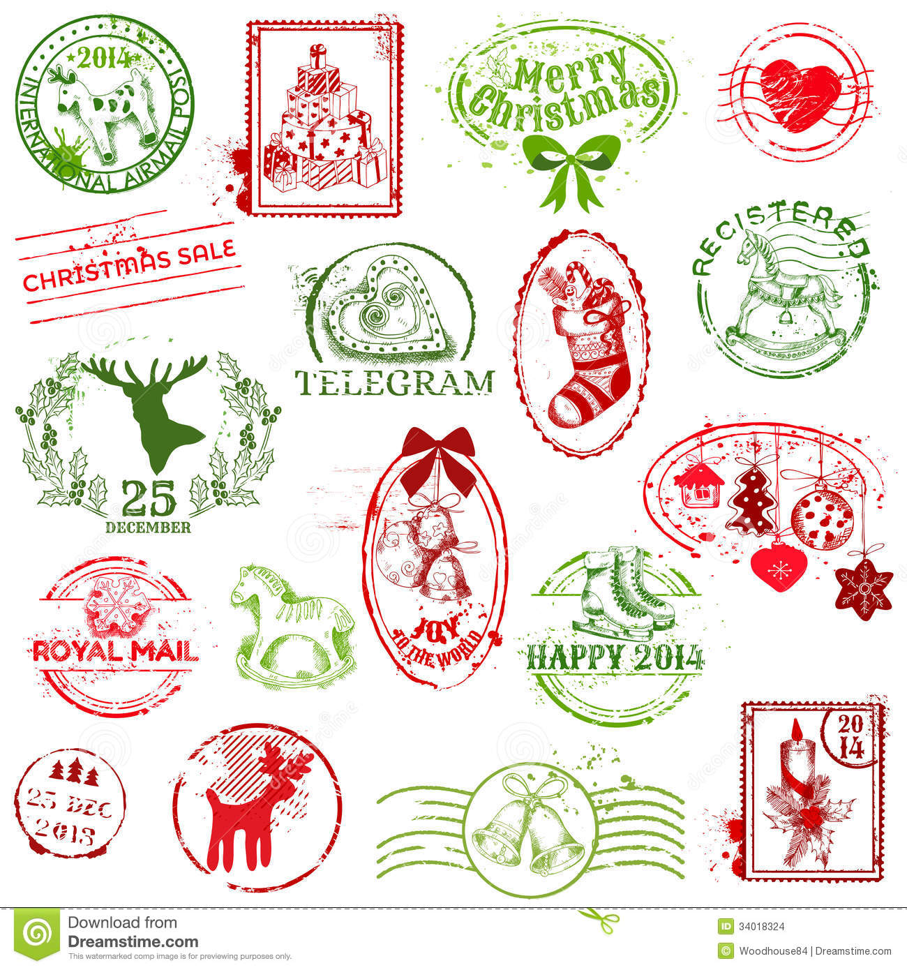 christmas stamp collection - Christmas Stamp