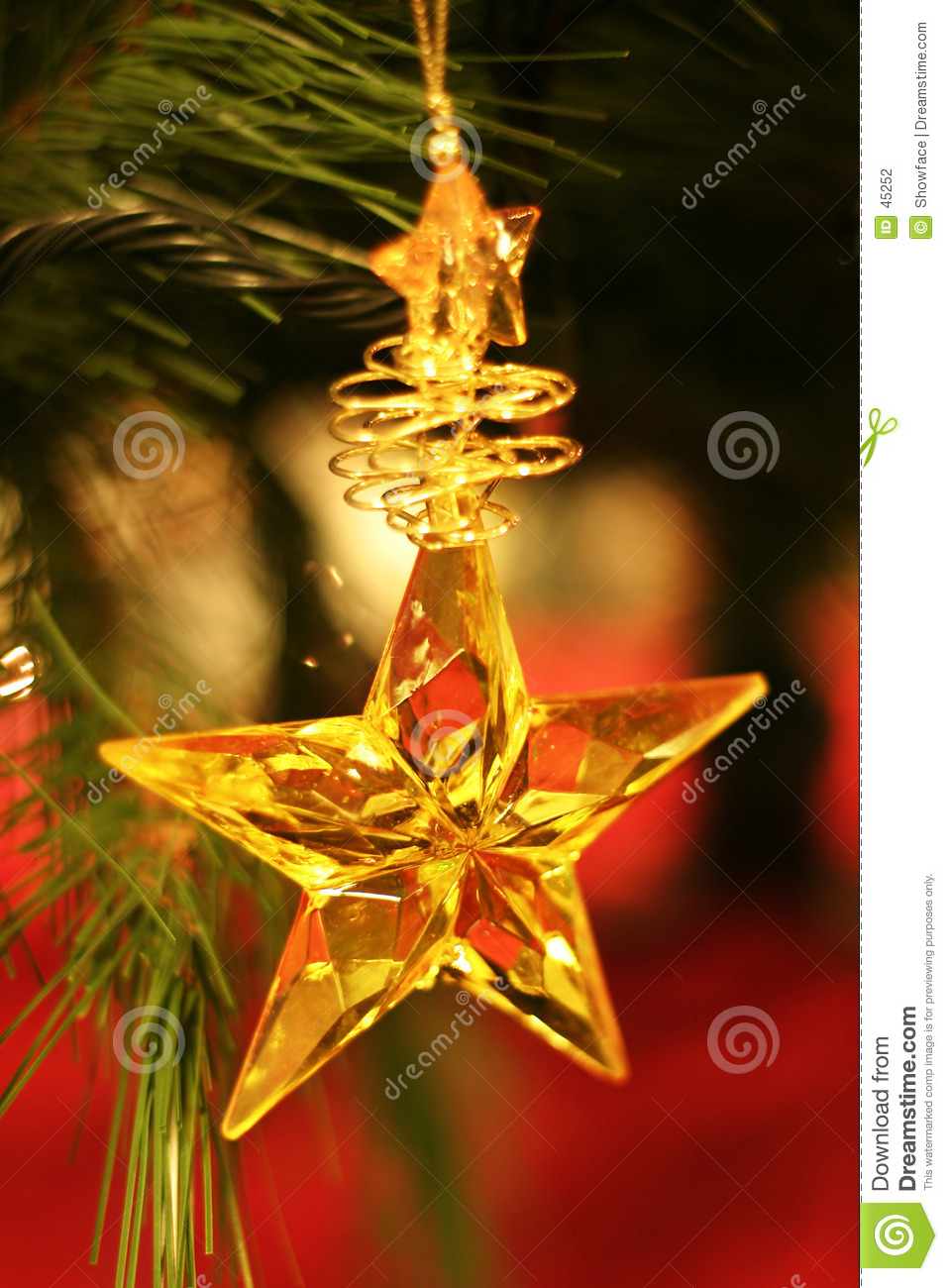 Christmas star stock photo image of tree ornaments