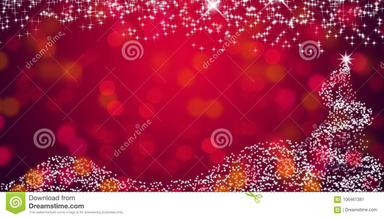 christmas star background with de focused lights red abstract background wallpaper