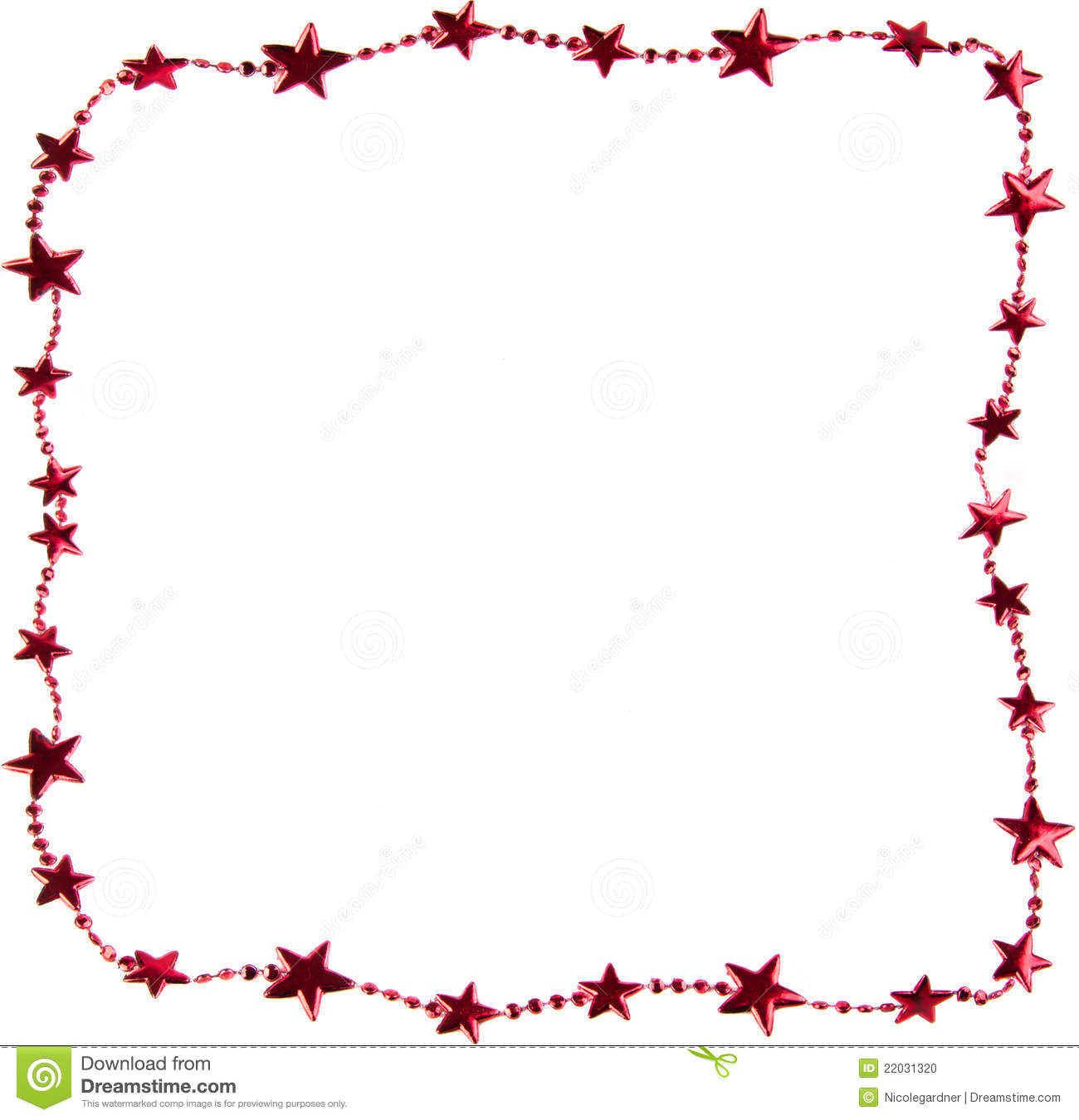 Christmas star border stock photo image of frame