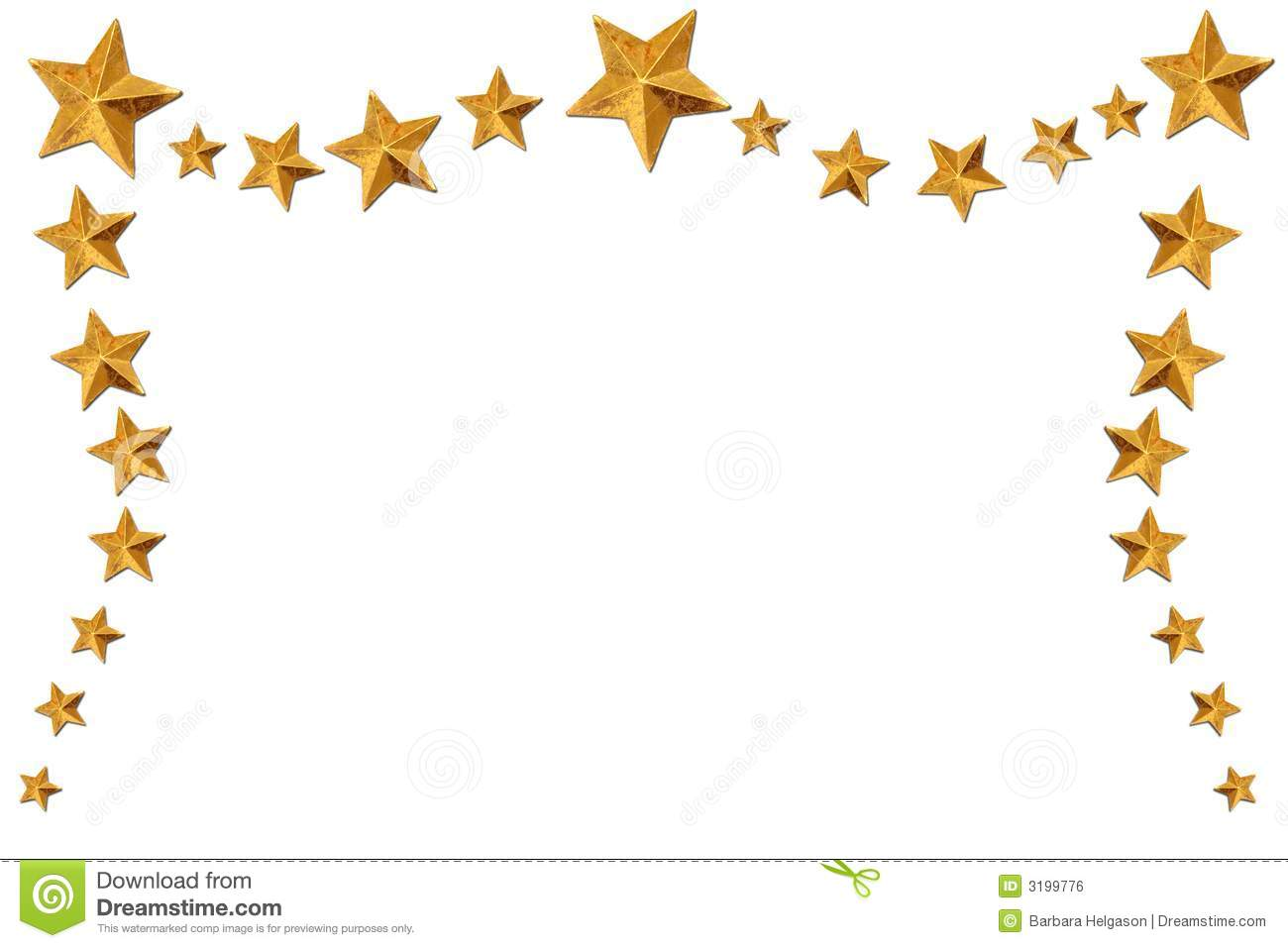 Christmas star border stock illustration of