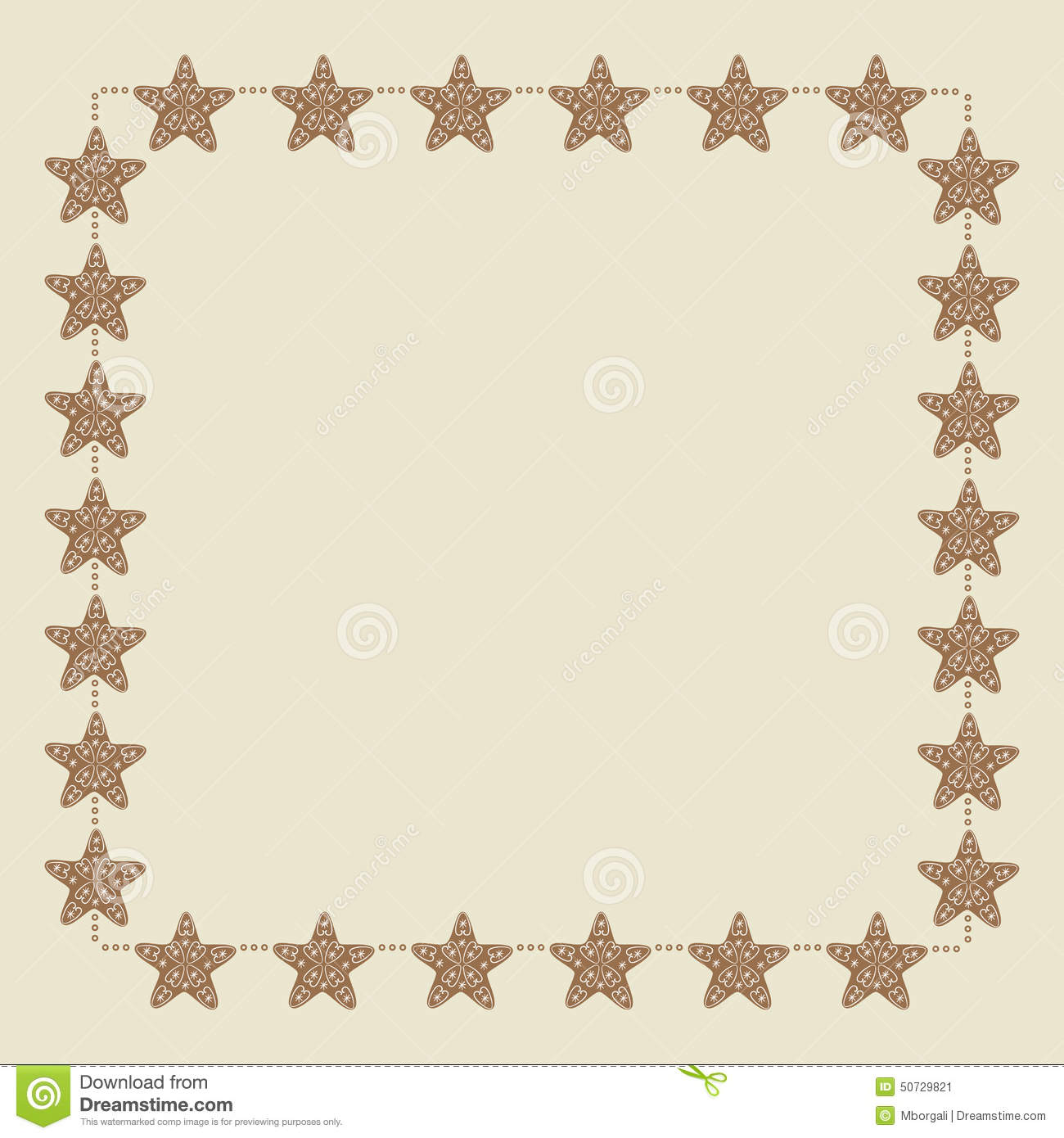 Christmas star border stock vector image