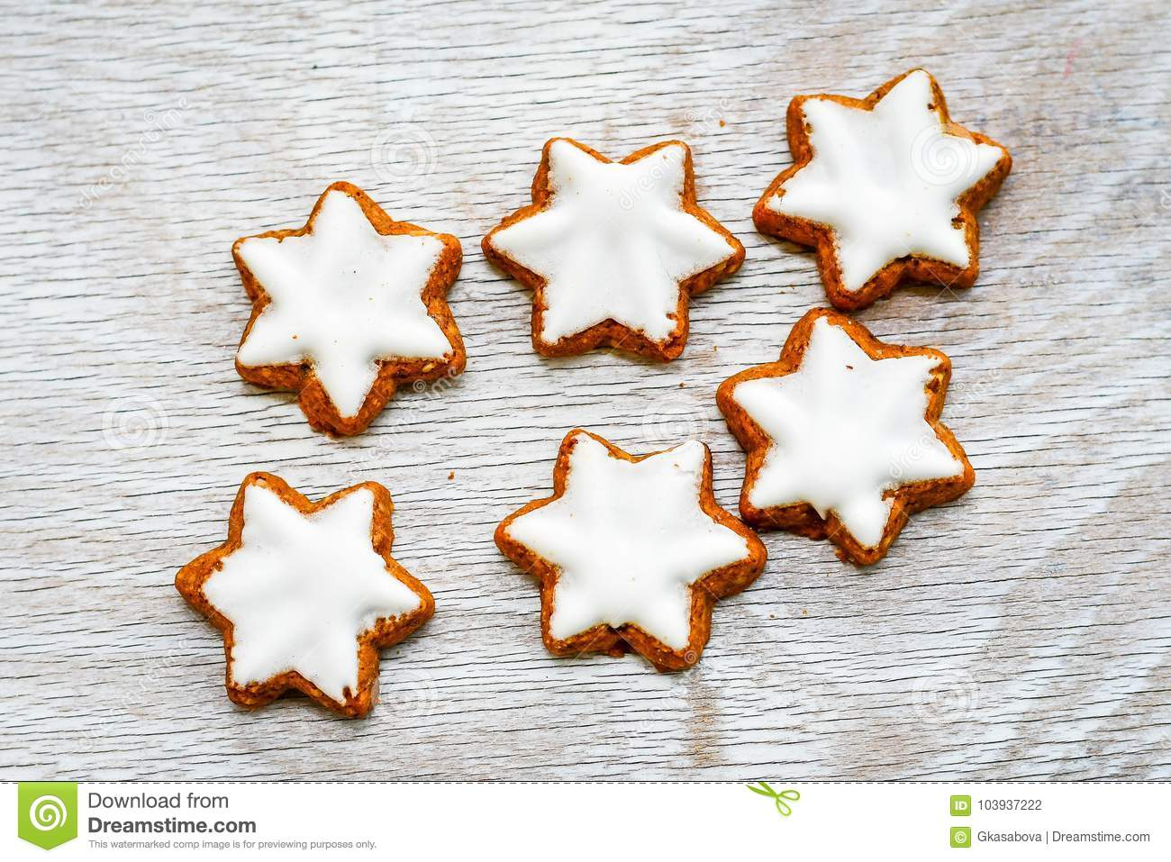 Christmas Star Cookies Stock Photo Image Of Biscuit 103937222