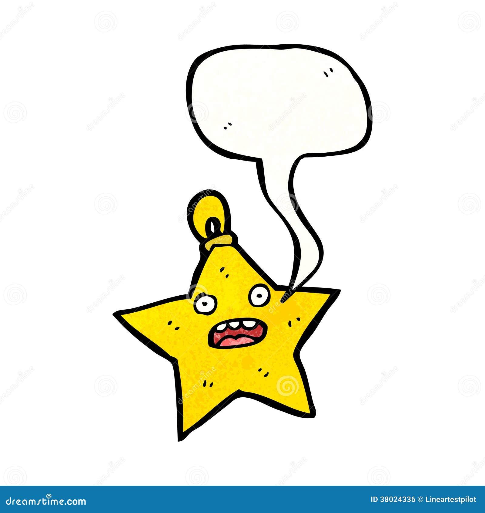 Christmas star decoration cartoon character royalty free