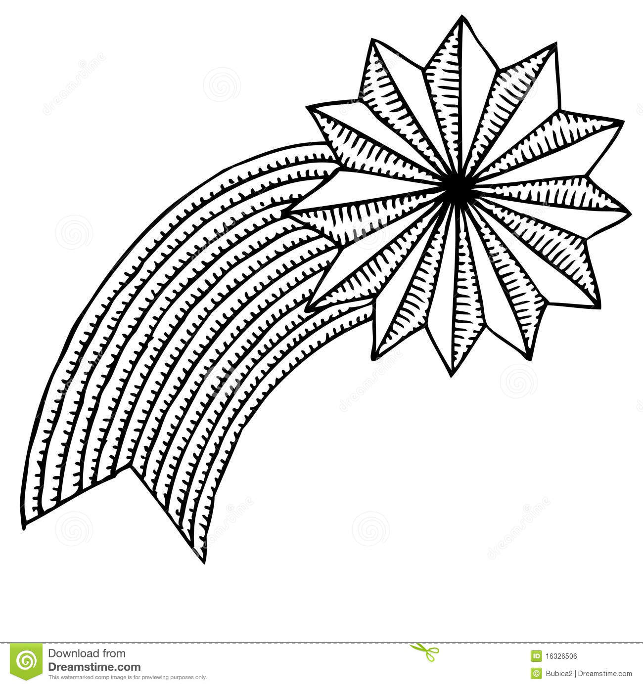 Christmas star drawing stock vector illustration of peace