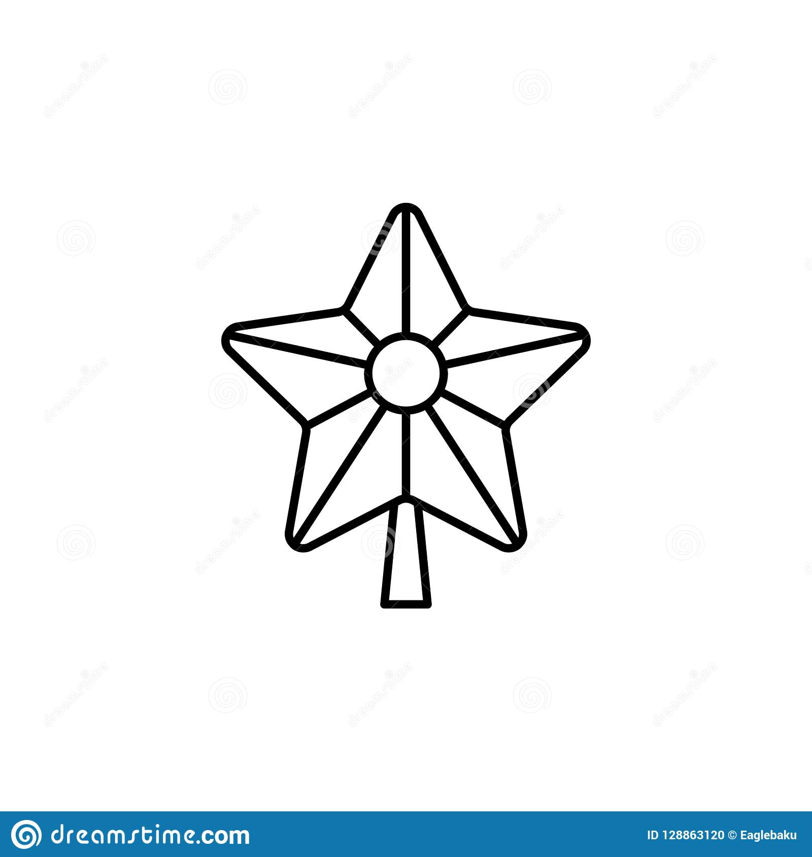 Christmas, Star Outline Icon  Element Of New Year